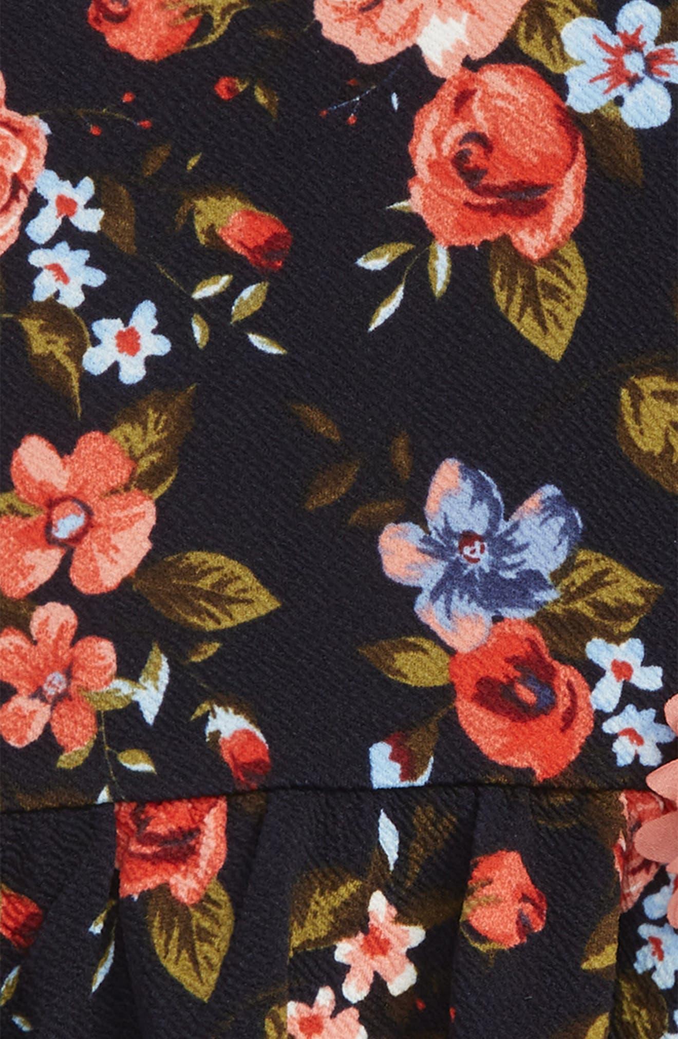 Floral Print Skater Dress,                             Alternate thumbnail 2, color,                             415