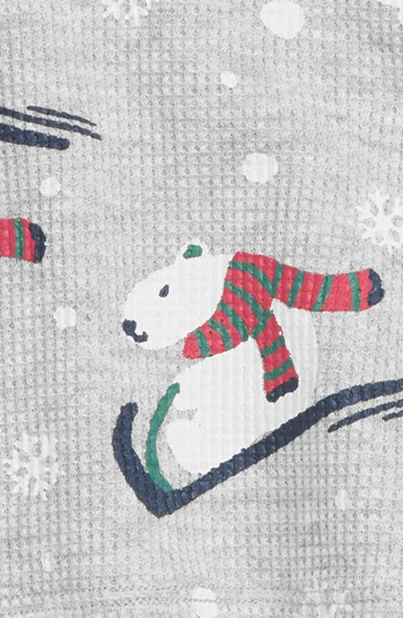 Thermal Fitted Two-Piece Pajamas,                             Alternate thumbnail 2, color,                             GREY PEARL HEATHER POLAR BEAR