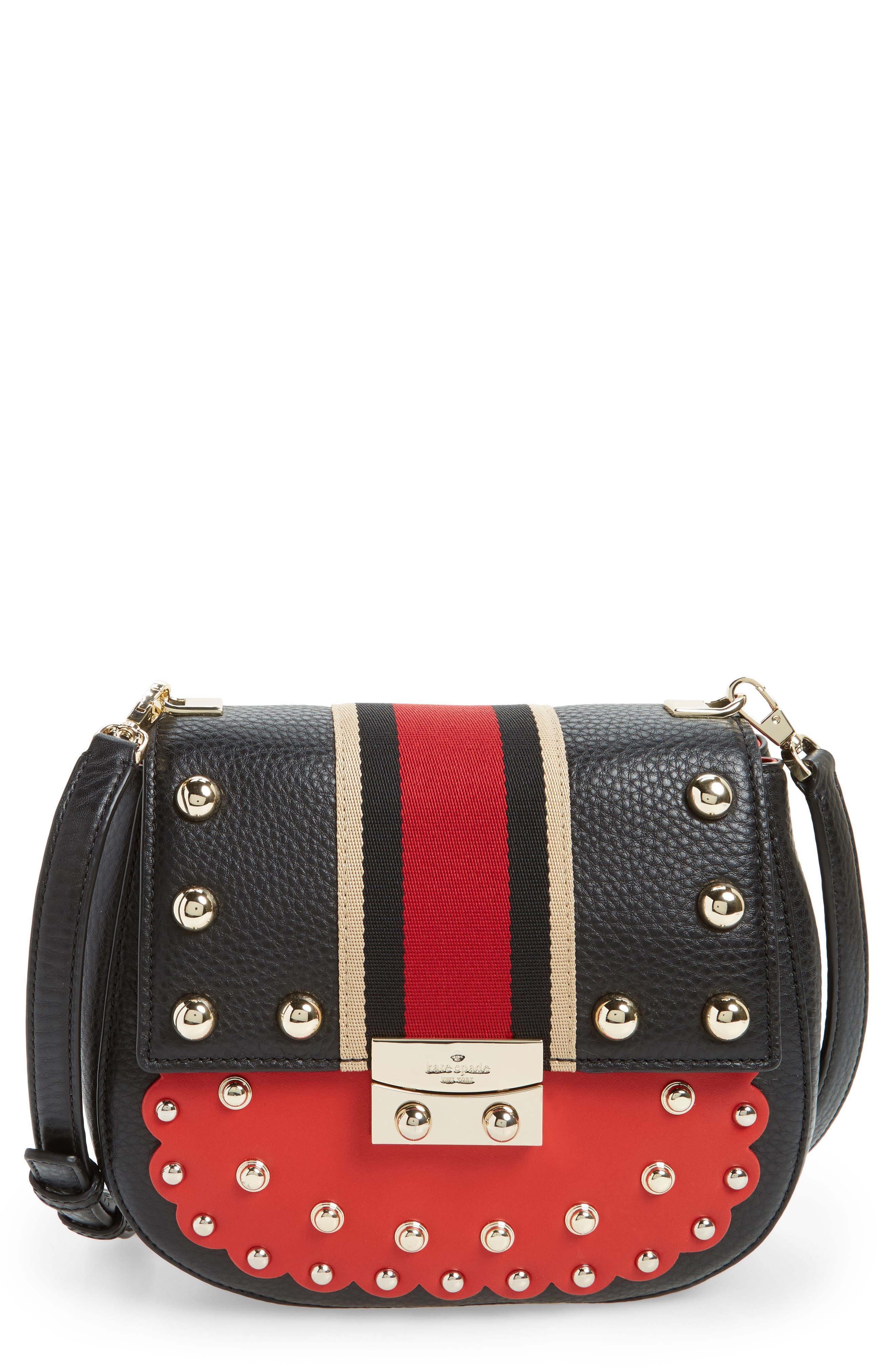 madison stewart street - byrdie studded leather satchel,                         Main,                         color, 631