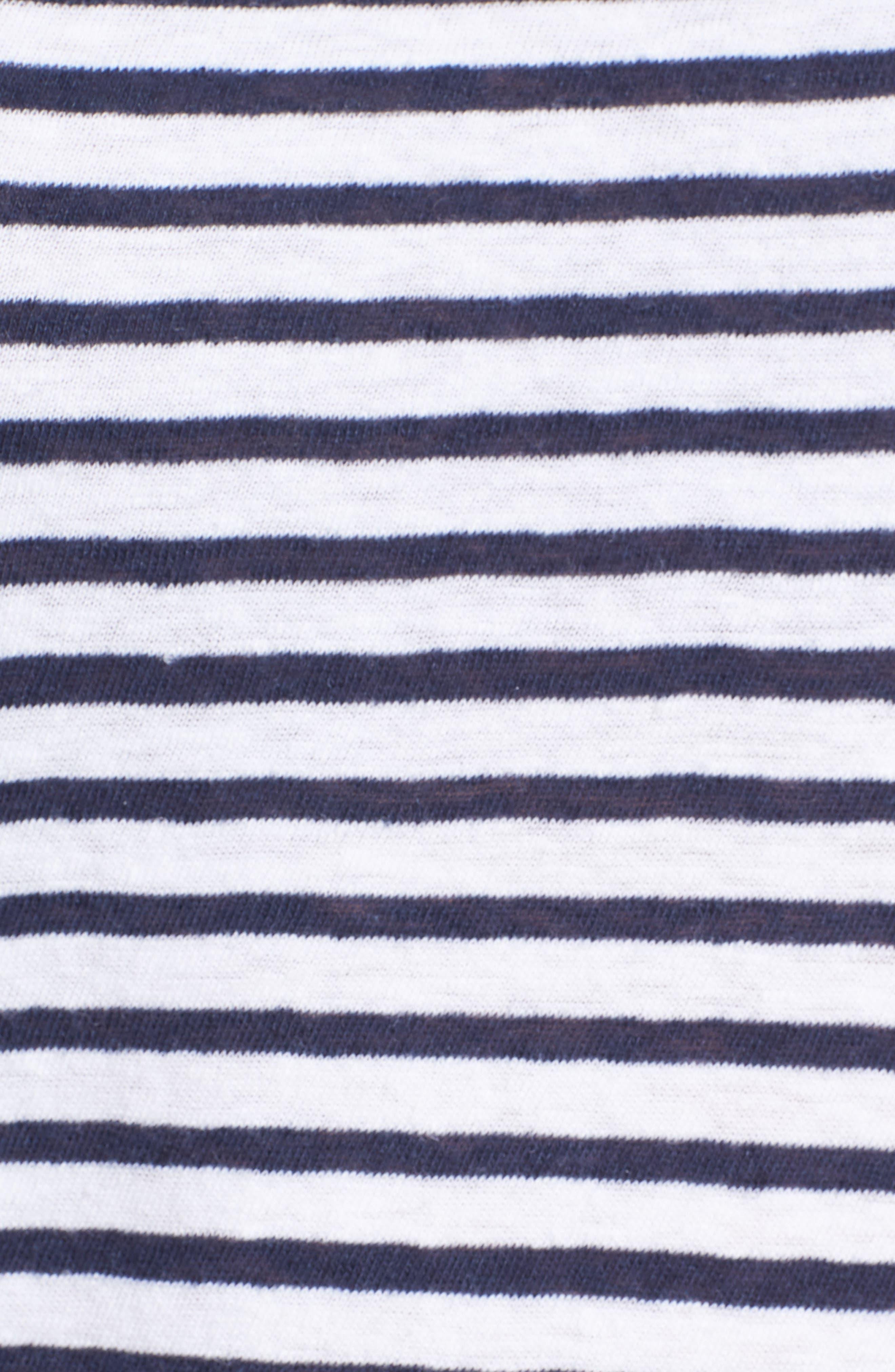 Stripe Linen Blend Boy Tee,                             Alternate thumbnail 5, color,                             400