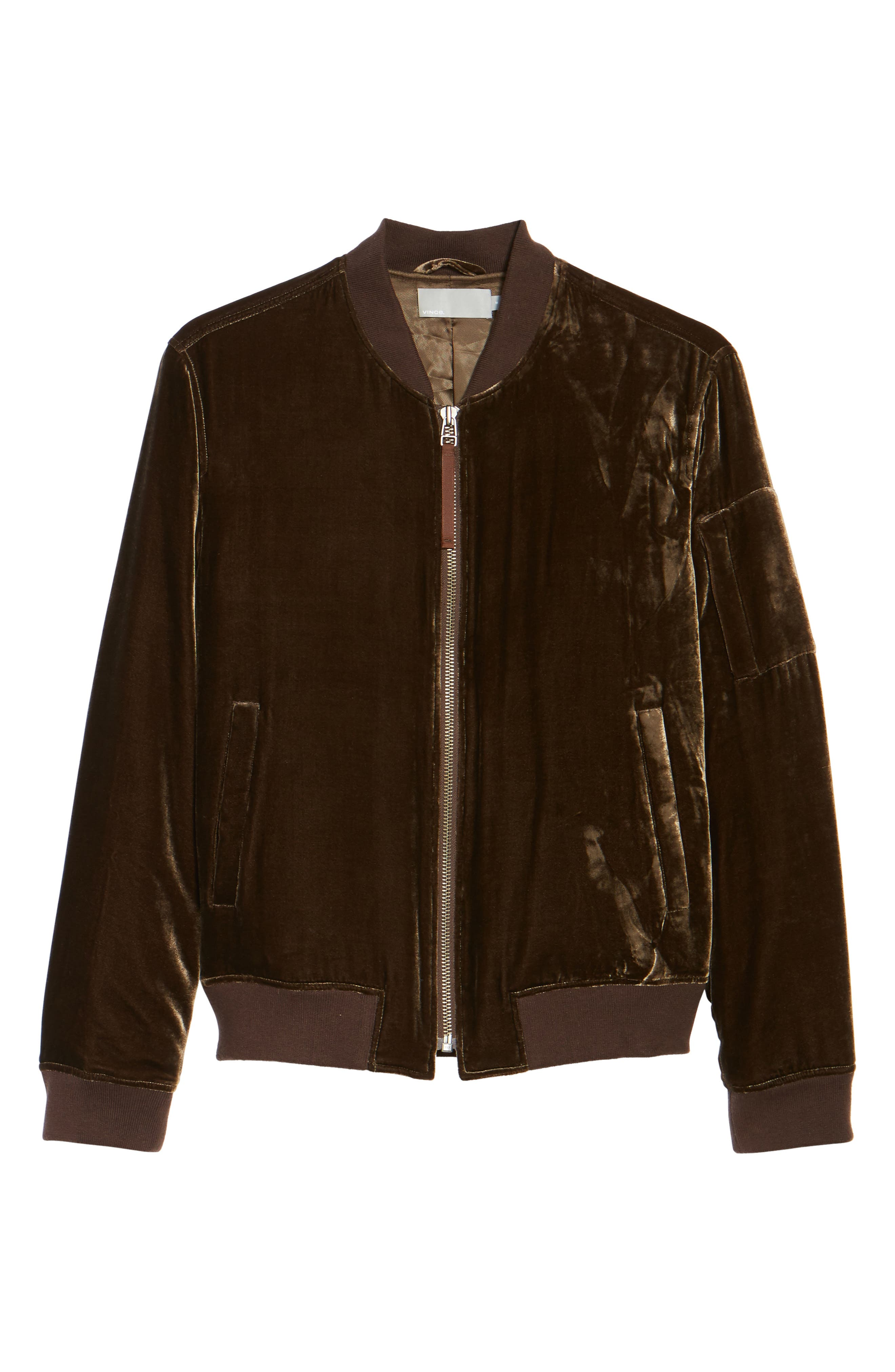 Velvet Bomber Jacket,                             Alternate thumbnail 5, color,