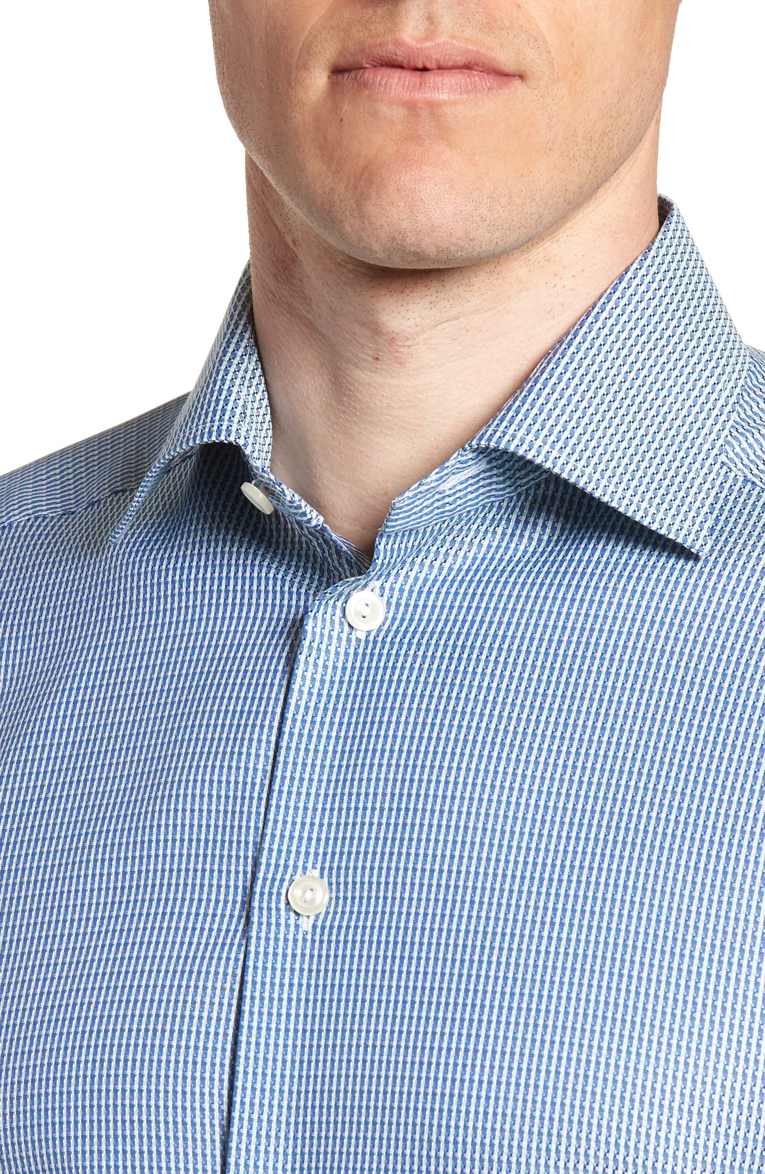 Contemporary Fit Pattern Jacquard Dress Shirt,                             Alternate thumbnail 2, color,                             400