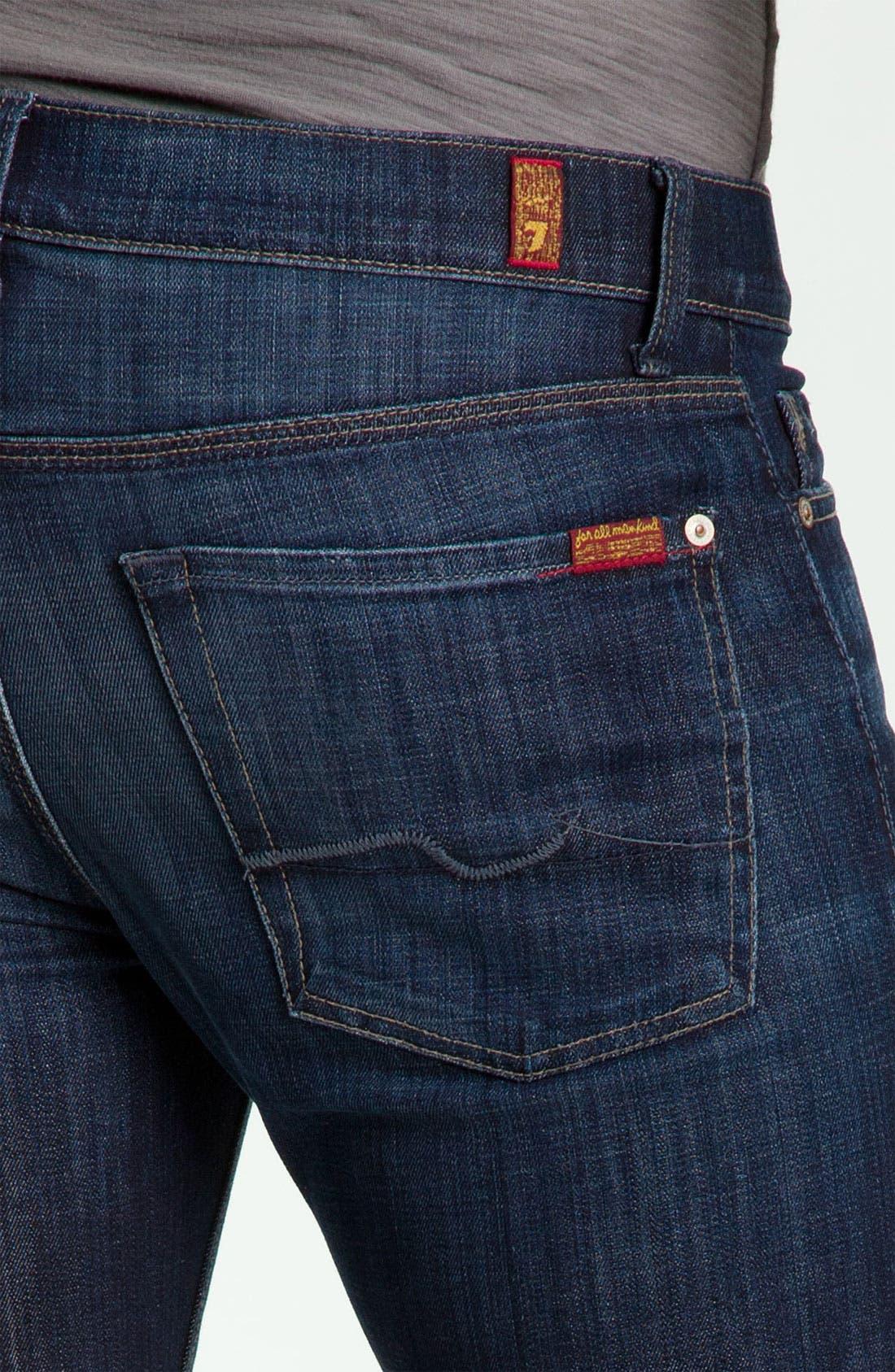 Slimmy Slim Fit Jeans,                             Alternate thumbnail 5, color,                             LOS ANGELES DARK
