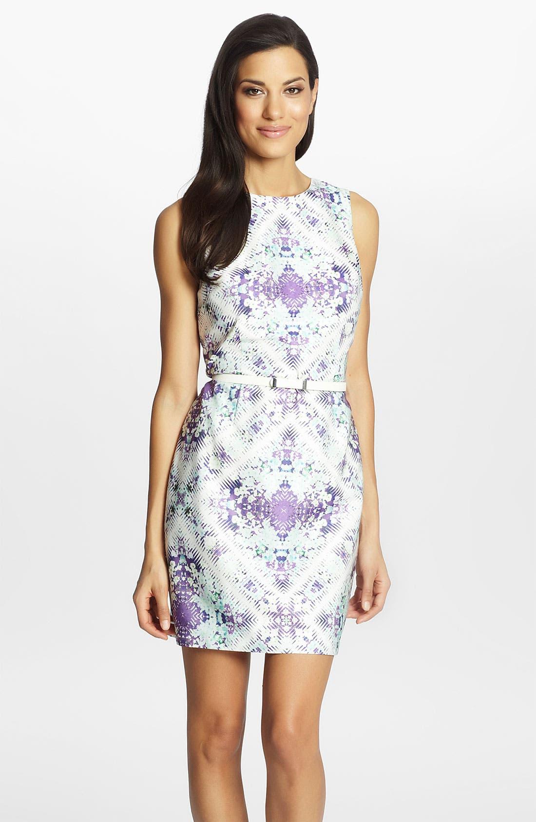 'Lucy' Print Sheath Dress,                         Main,                         color, 543