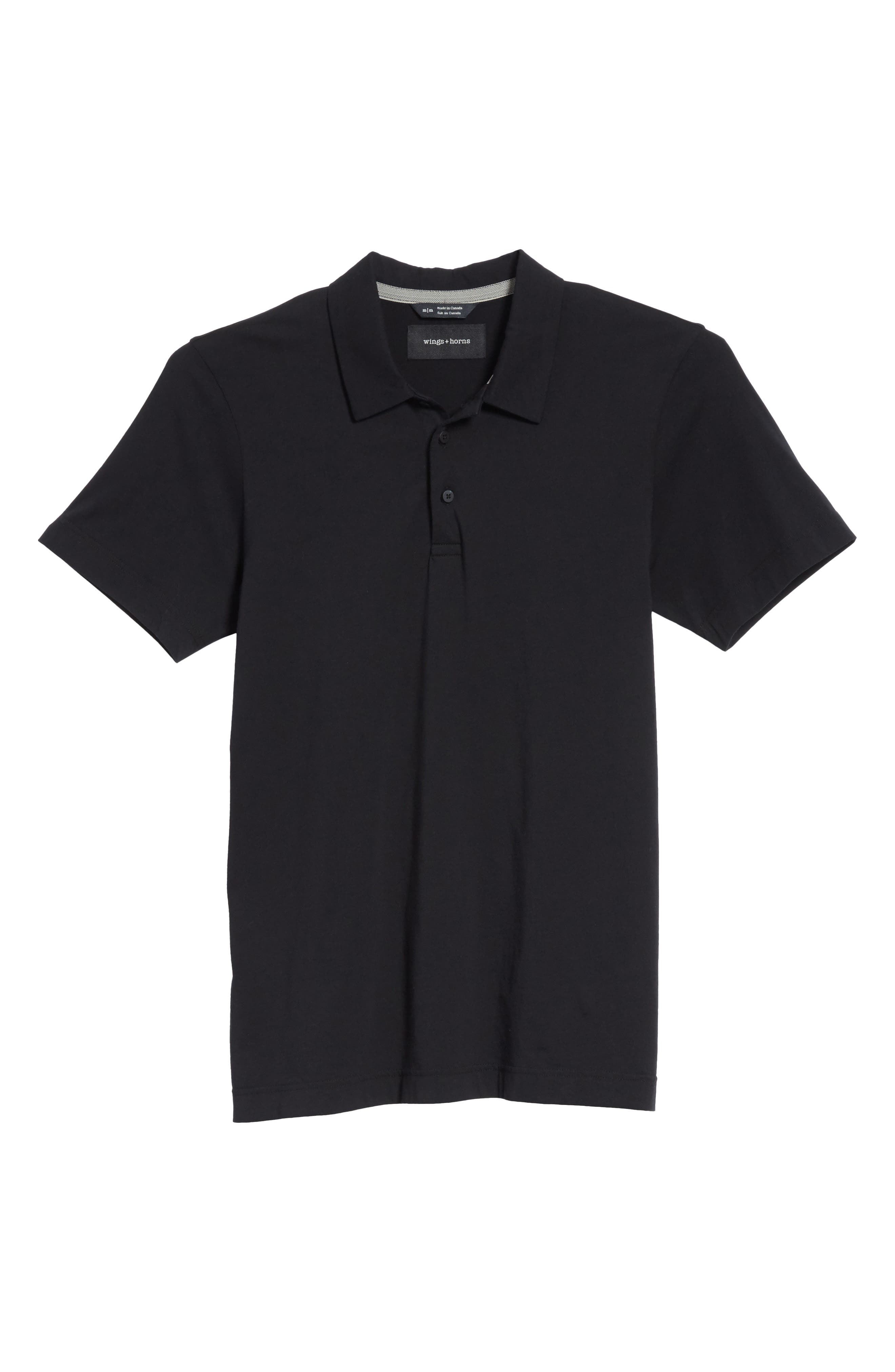 Short Sleeve Polo Shirt,                             Alternate thumbnail 6, color,                             001