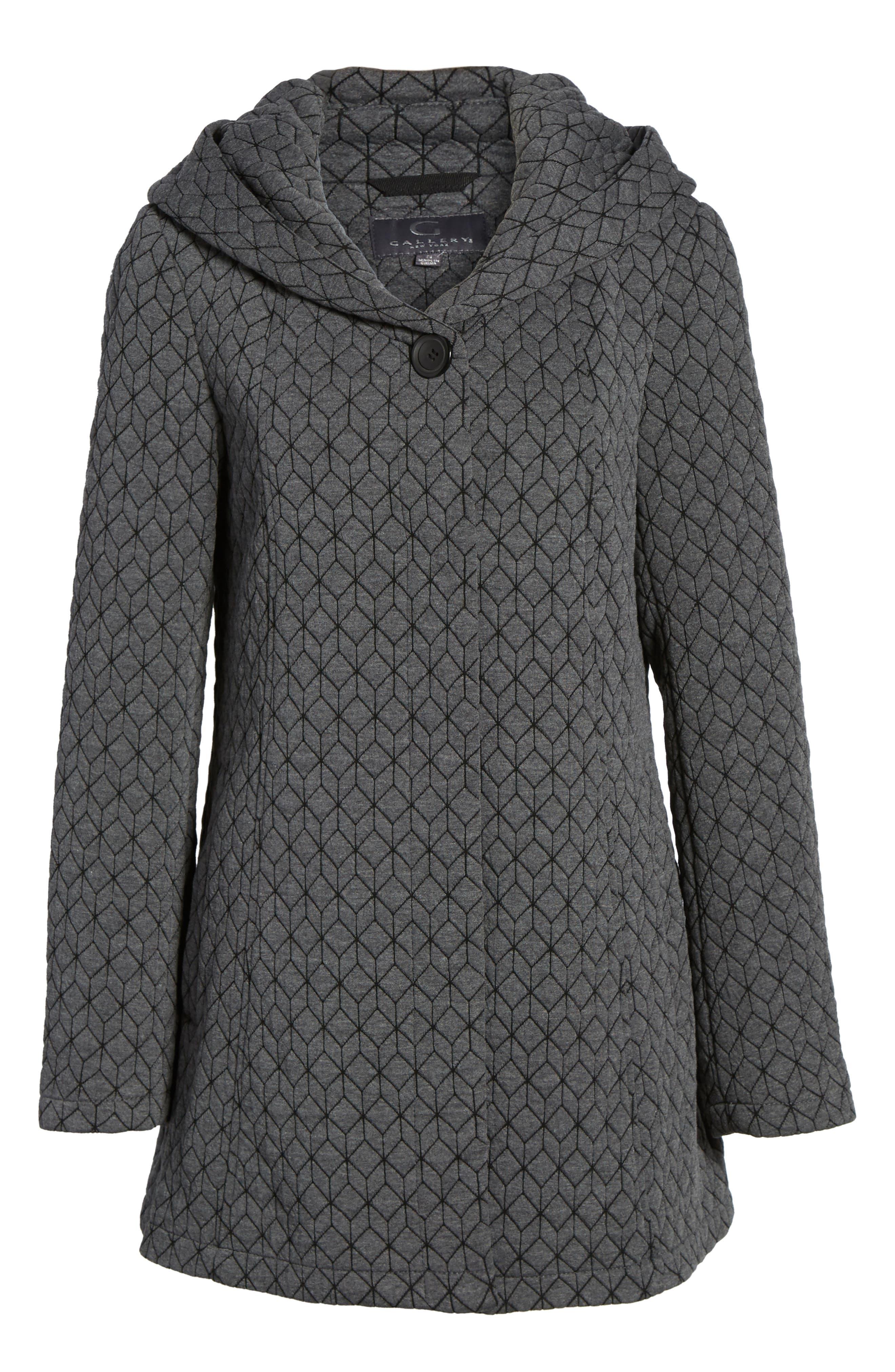 Cozy Knit Coat,                             Alternate thumbnail 5, color,                             020