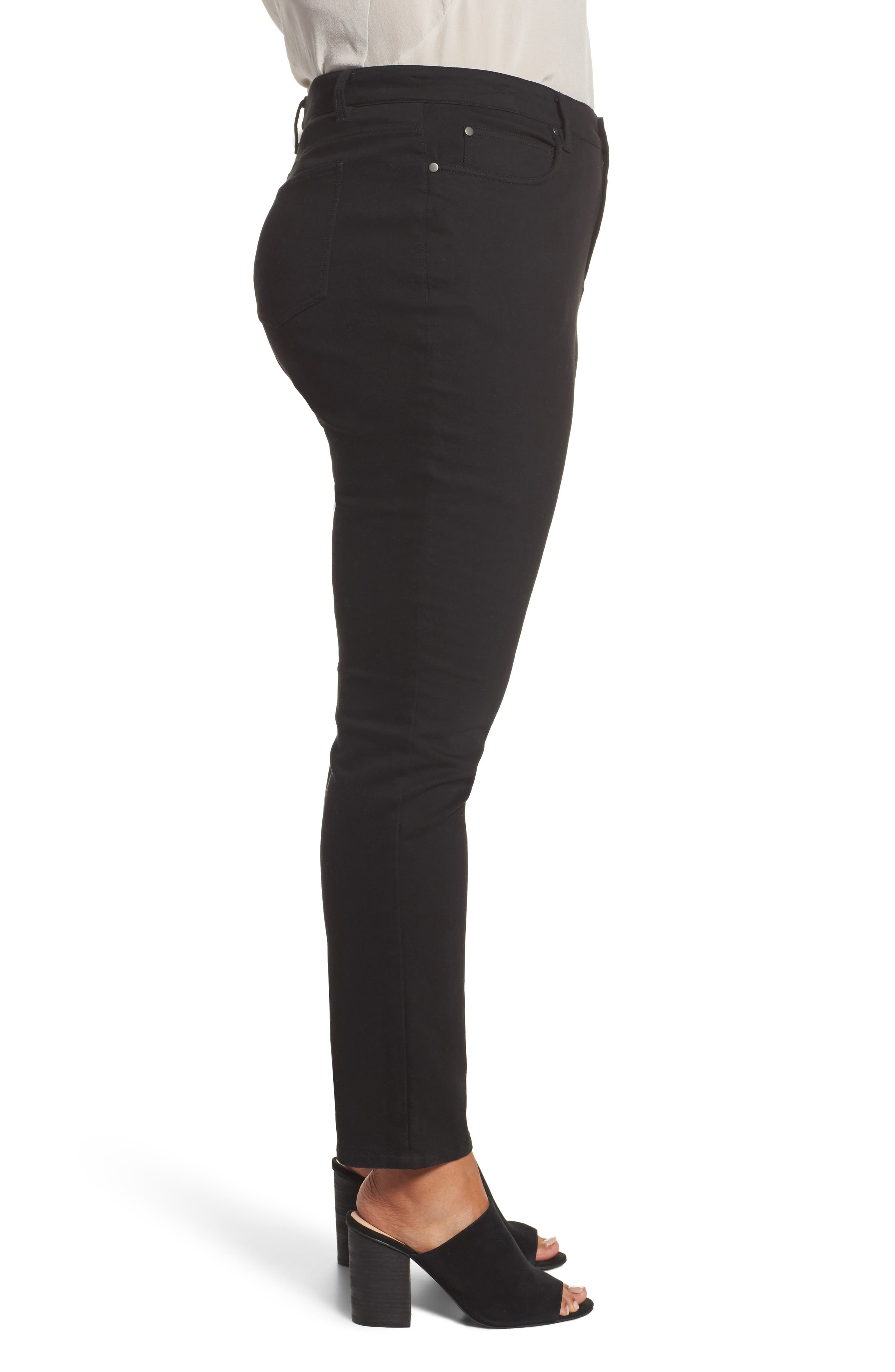 Organic Cotton Skinny Stretch Jeans,                             Alternate thumbnail 3, color,                             001