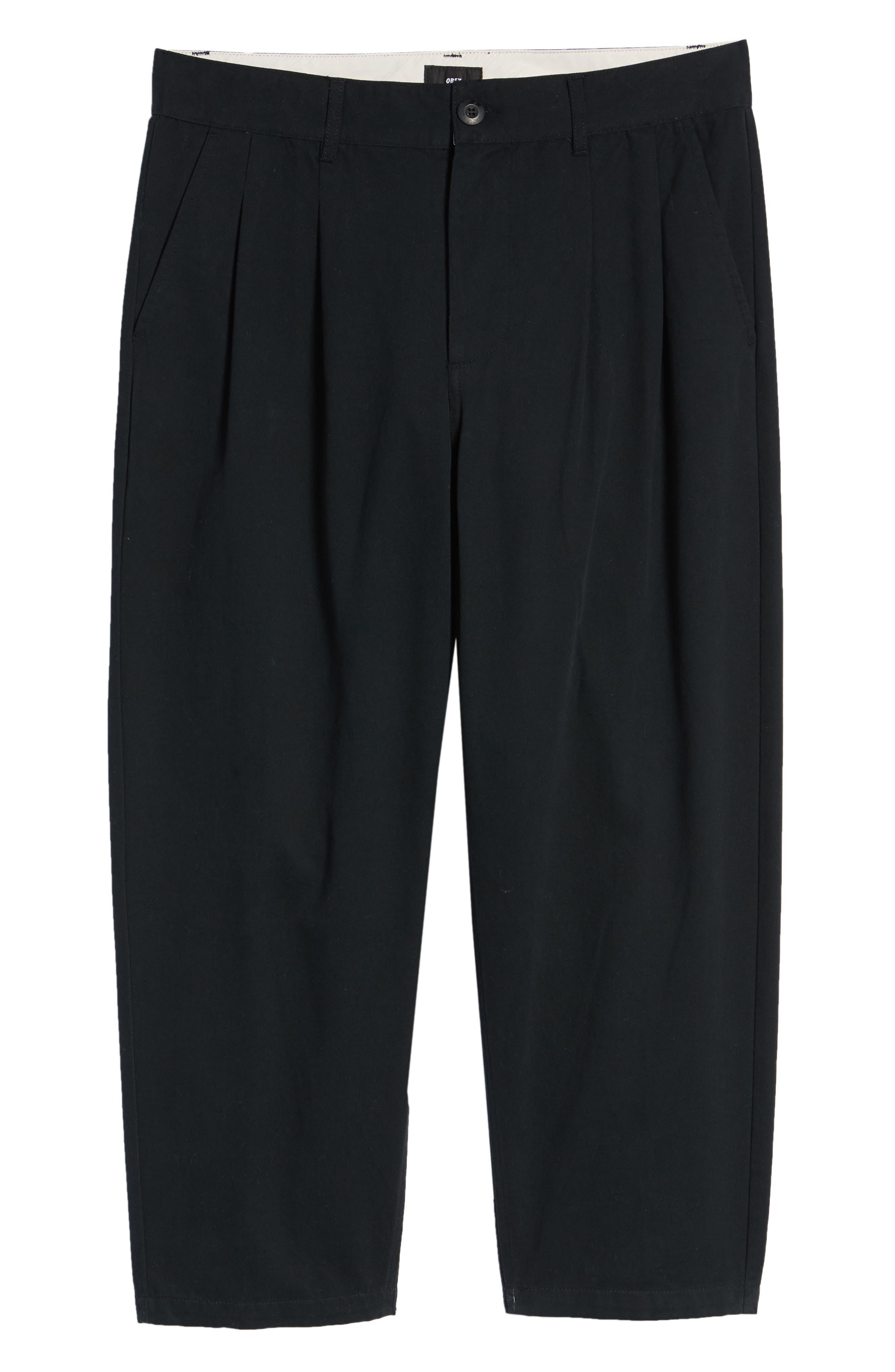 Fubar Pleated Relaxed Fit Pants,                             Alternate thumbnail 6, color,                             BLACK