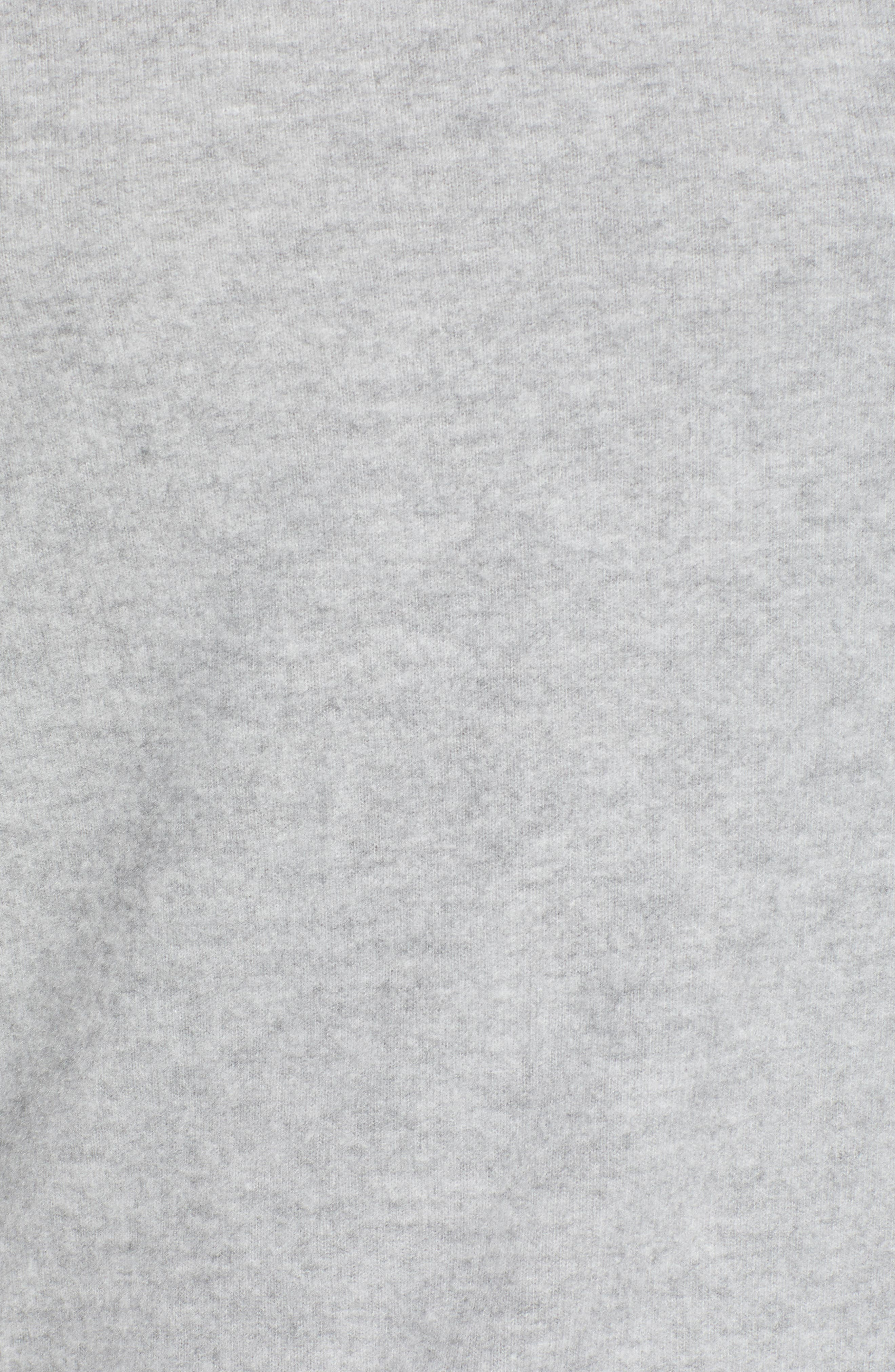 After Hours Open Back Sweatshirt,                             Alternate thumbnail 5, color,                             HEATHER GREY