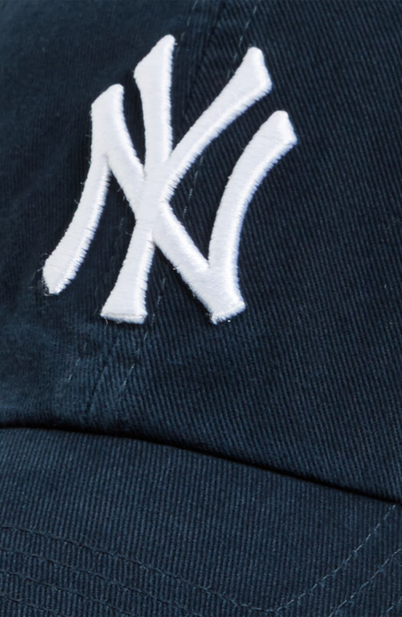 Clean Up NY Yankees Baseball Cap,                             Alternate thumbnail 3, color,                             410