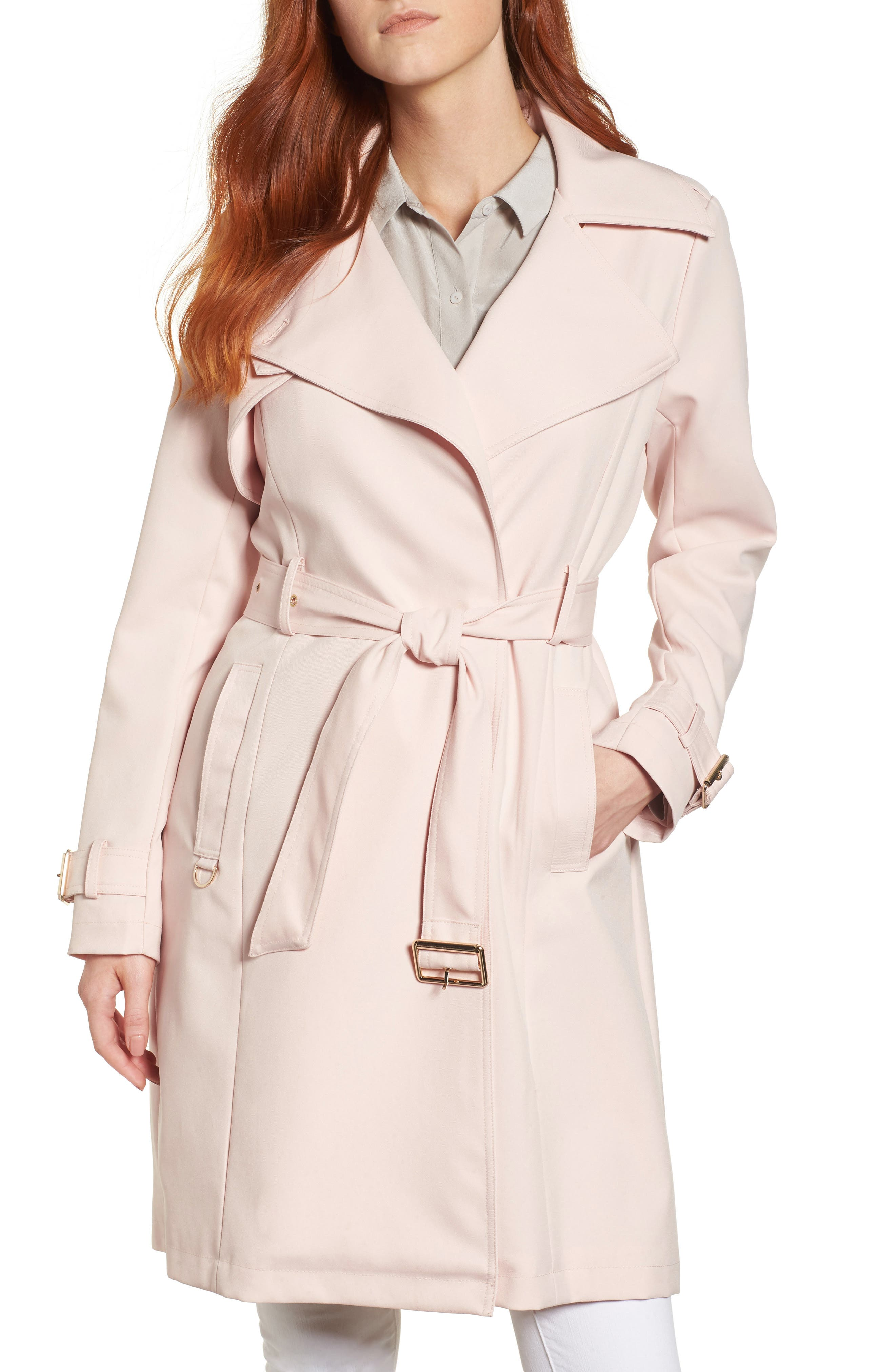 Flowy Belted Trench Coat,                             Main thumbnail 2, color,
