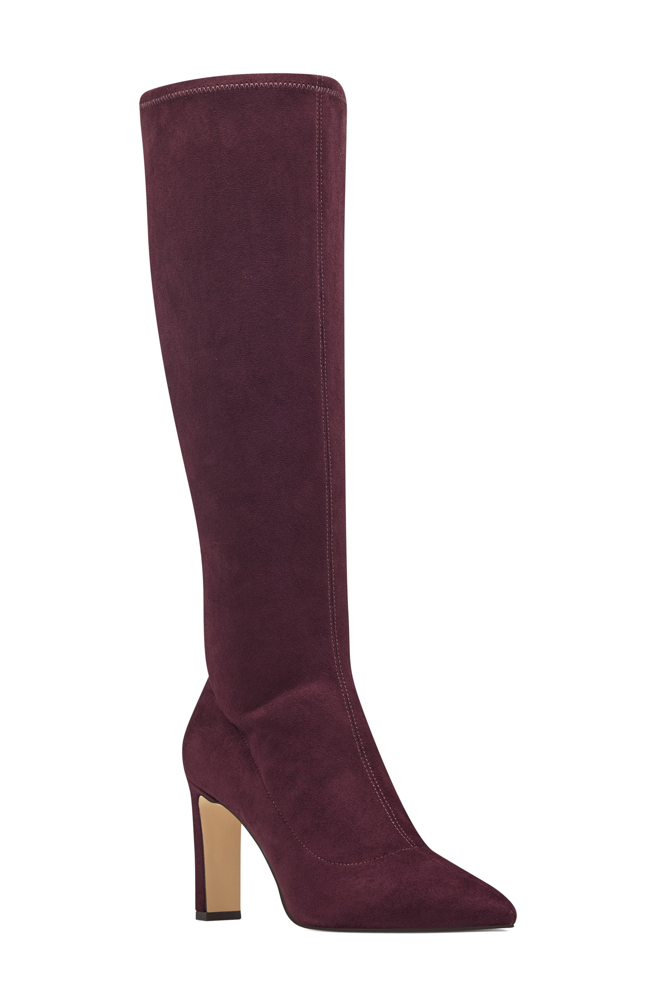 Nine West Jakinny Stretch Shaft Knee High Boot, Purple