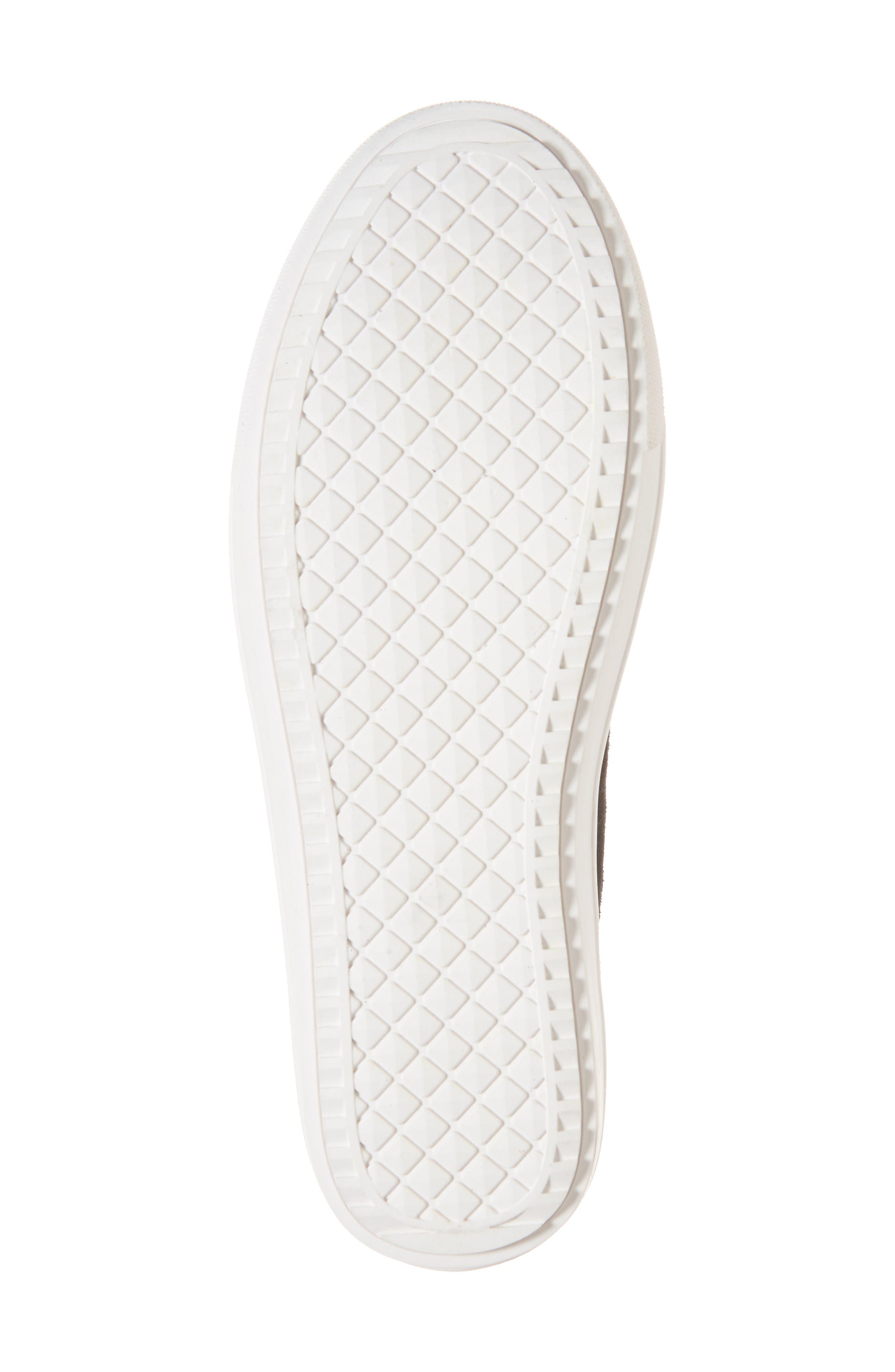 Sultan Chelsea Wedge Sneaker,                             Alternate thumbnail 6, color,                             BLACK SUEDE