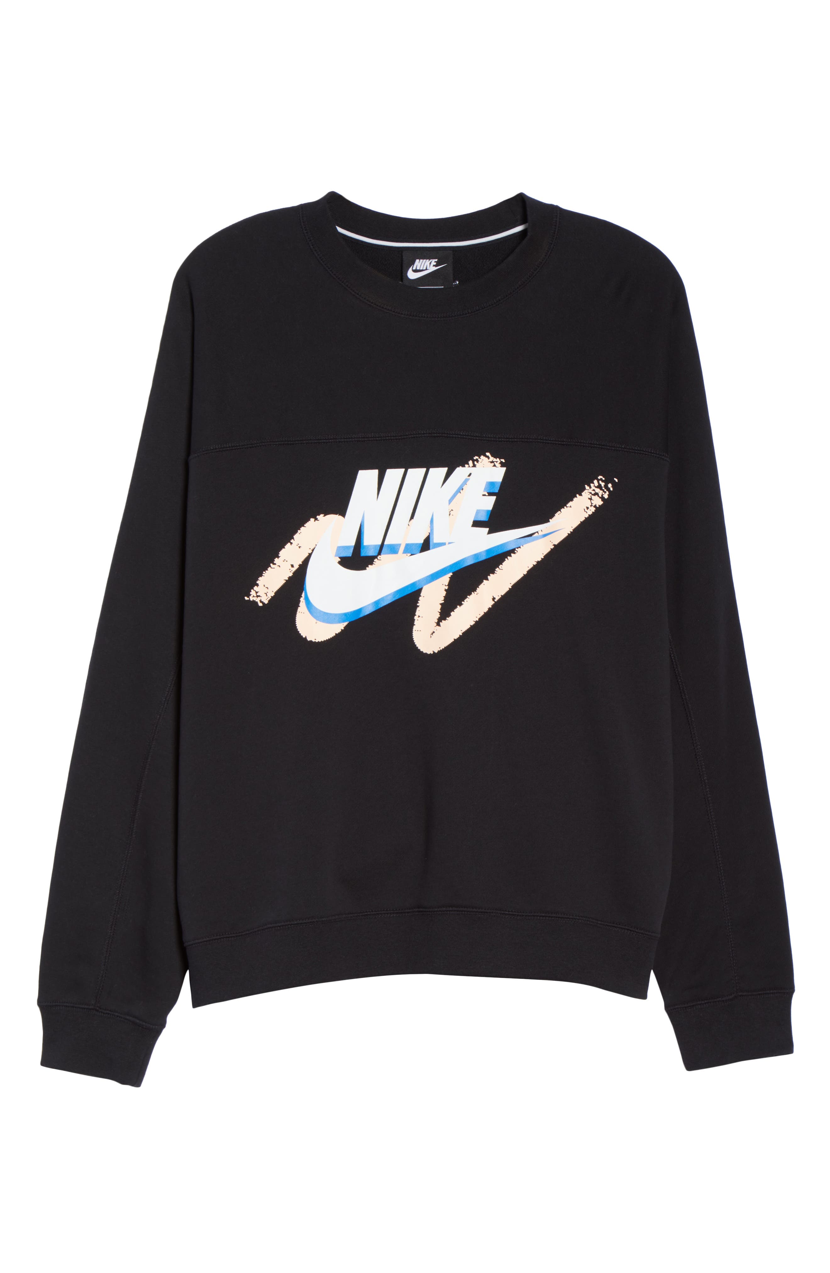 Archive Sweatshirt,                             Alternate thumbnail 7, color,                             BLACK/ BLACK/ BLACK