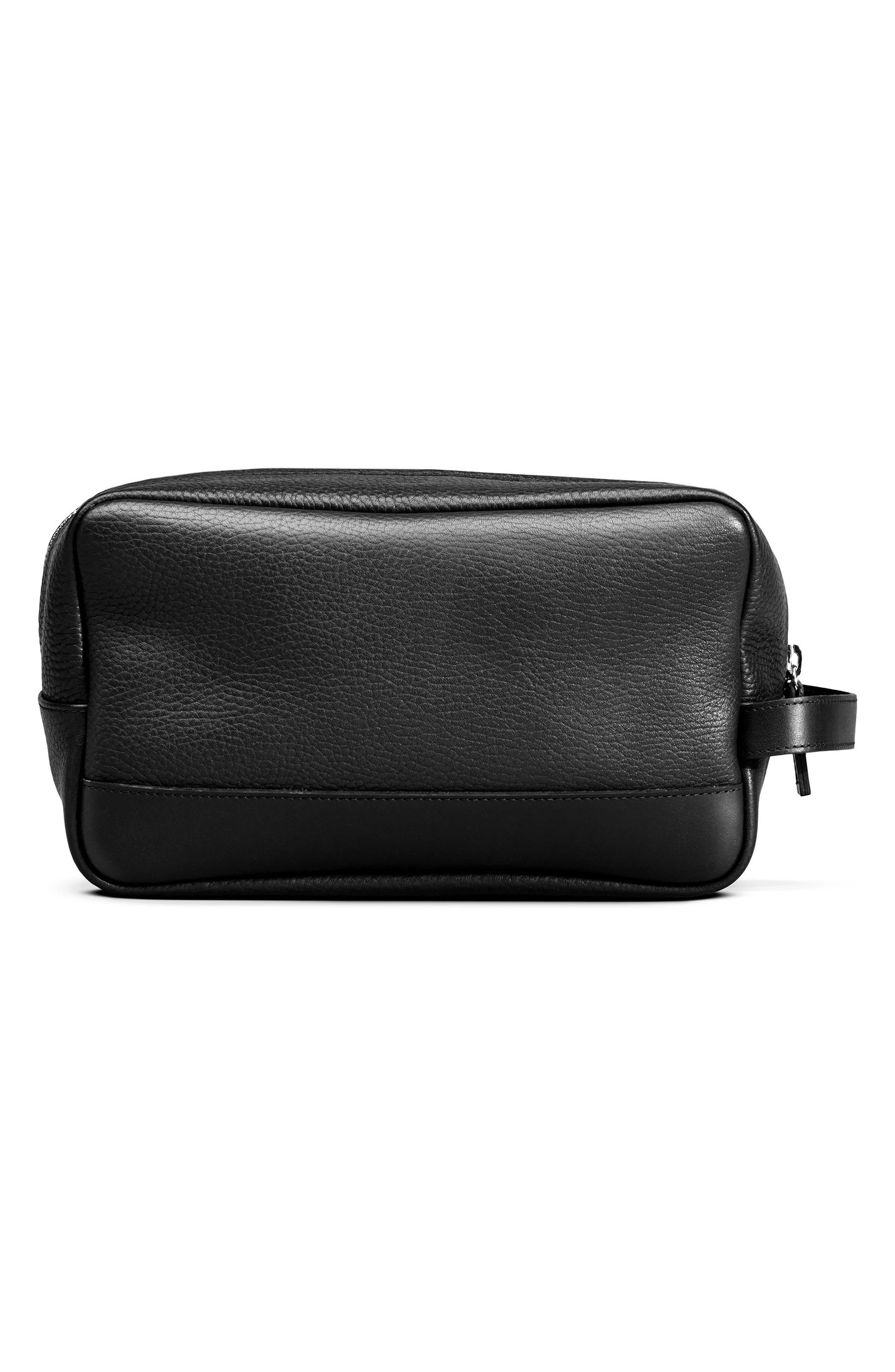 Leather Travel Kit,                             Alternate thumbnail 2, color,                             BLACK