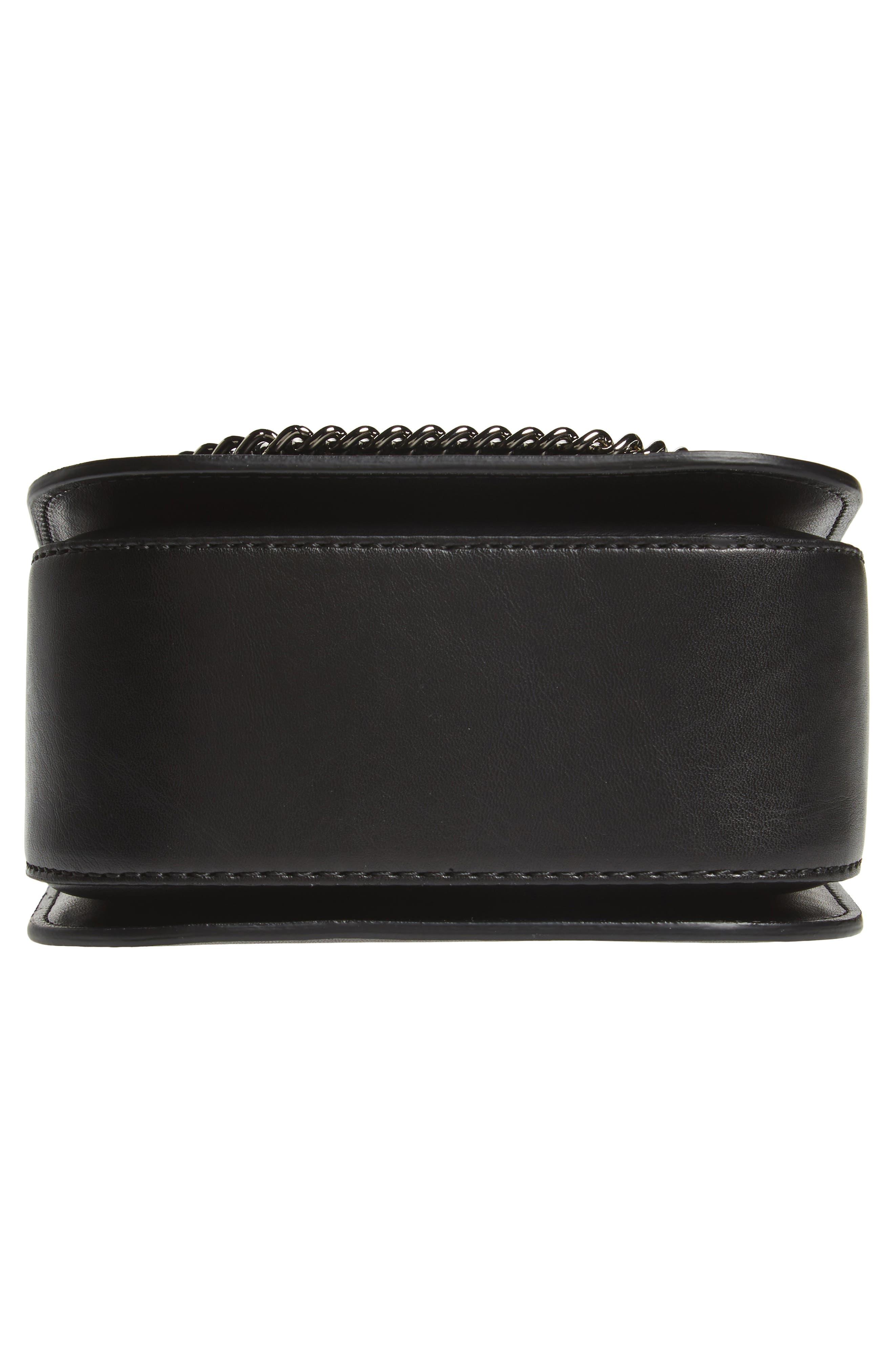 Small Falabella Box Alter Nappa Faux Leather Crossbody Bag,                             Alternate thumbnail 6, color,                             BLACK
