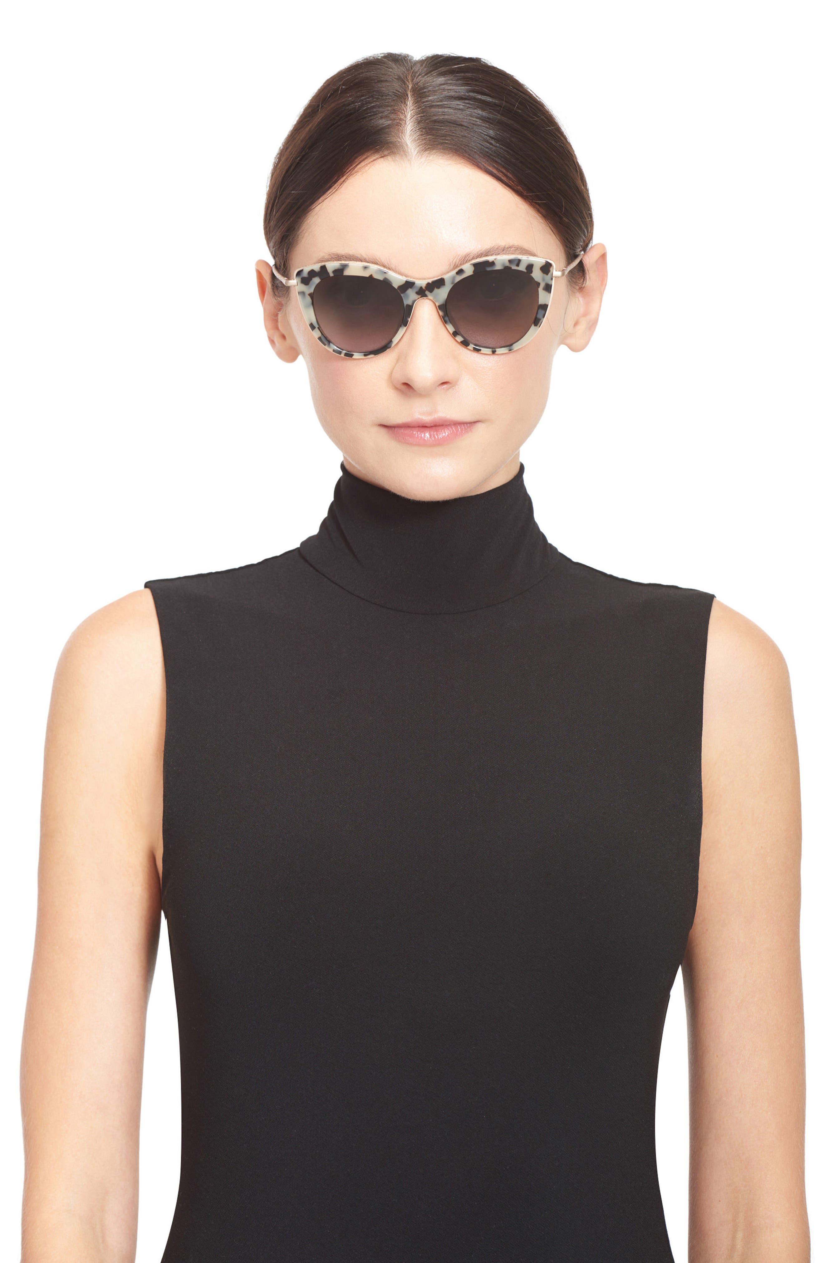 Gansevoort 48mm Special Fit Cat Eye Sunglasses,                             Alternate thumbnail 7, color,