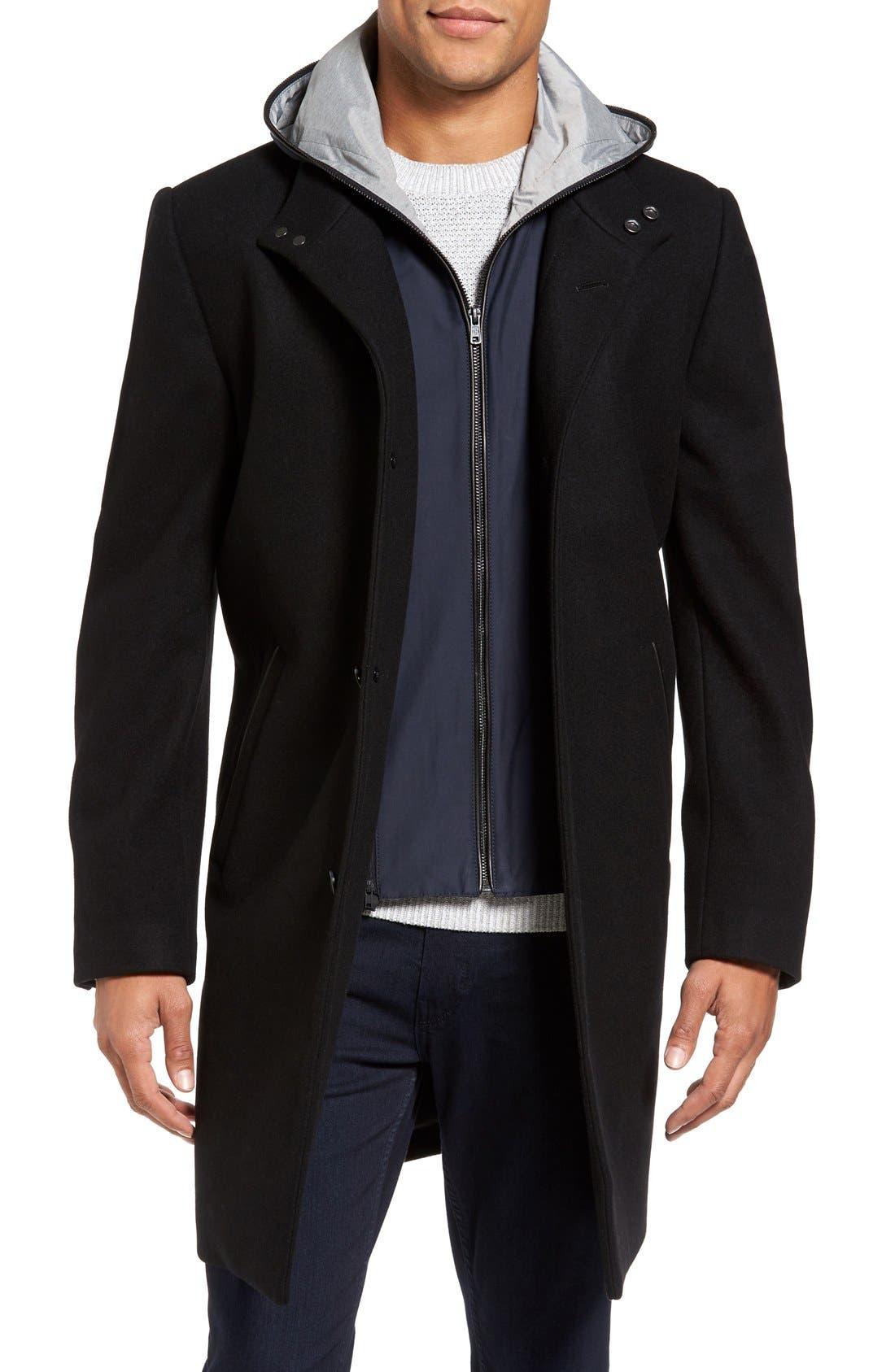 Hooded Campus Coat,                             Main thumbnail 1, color,                             001