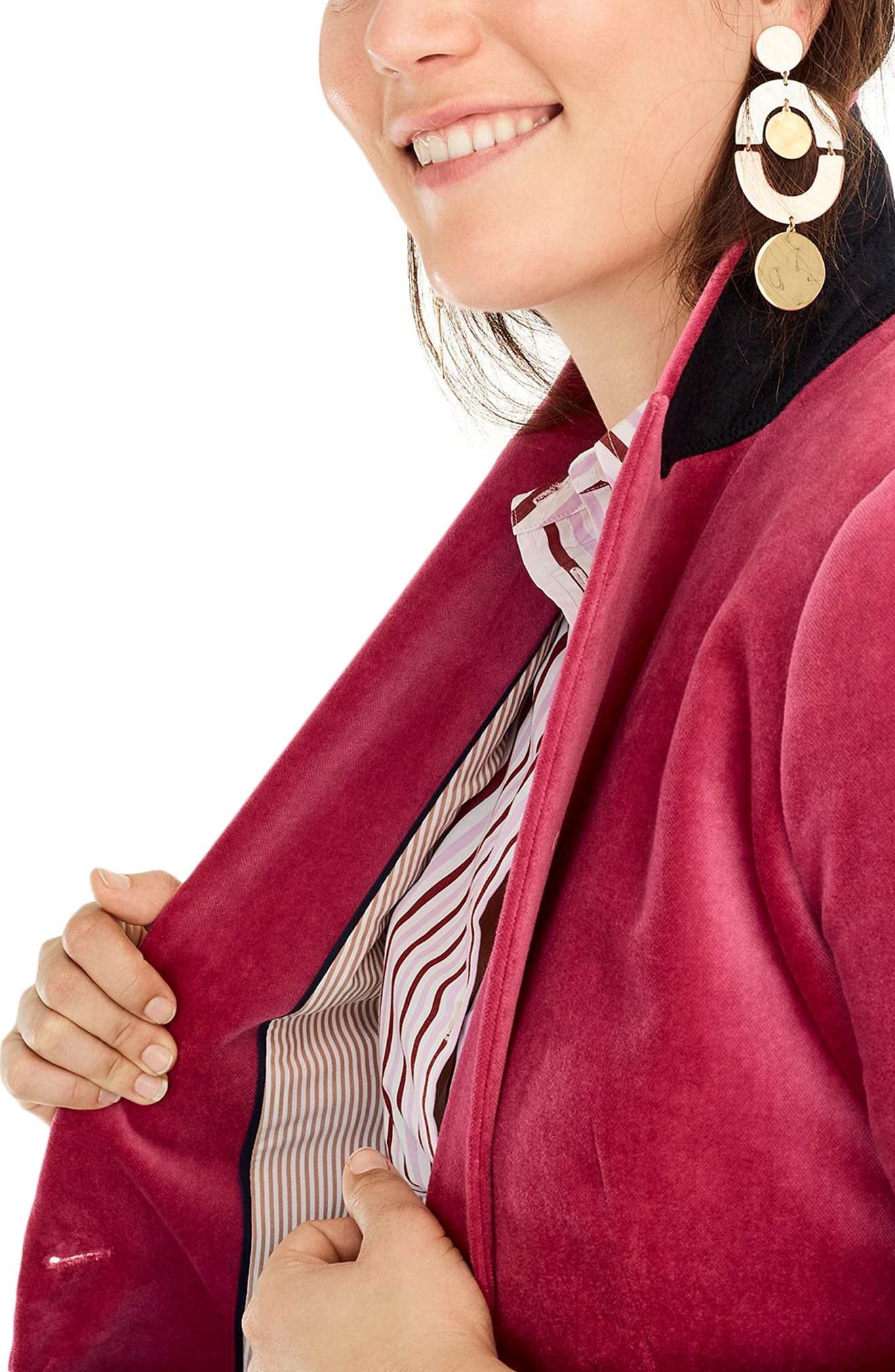 Parke Velvet Blazer,                             Alternate thumbnail 9, color,                             DRIED ROSE