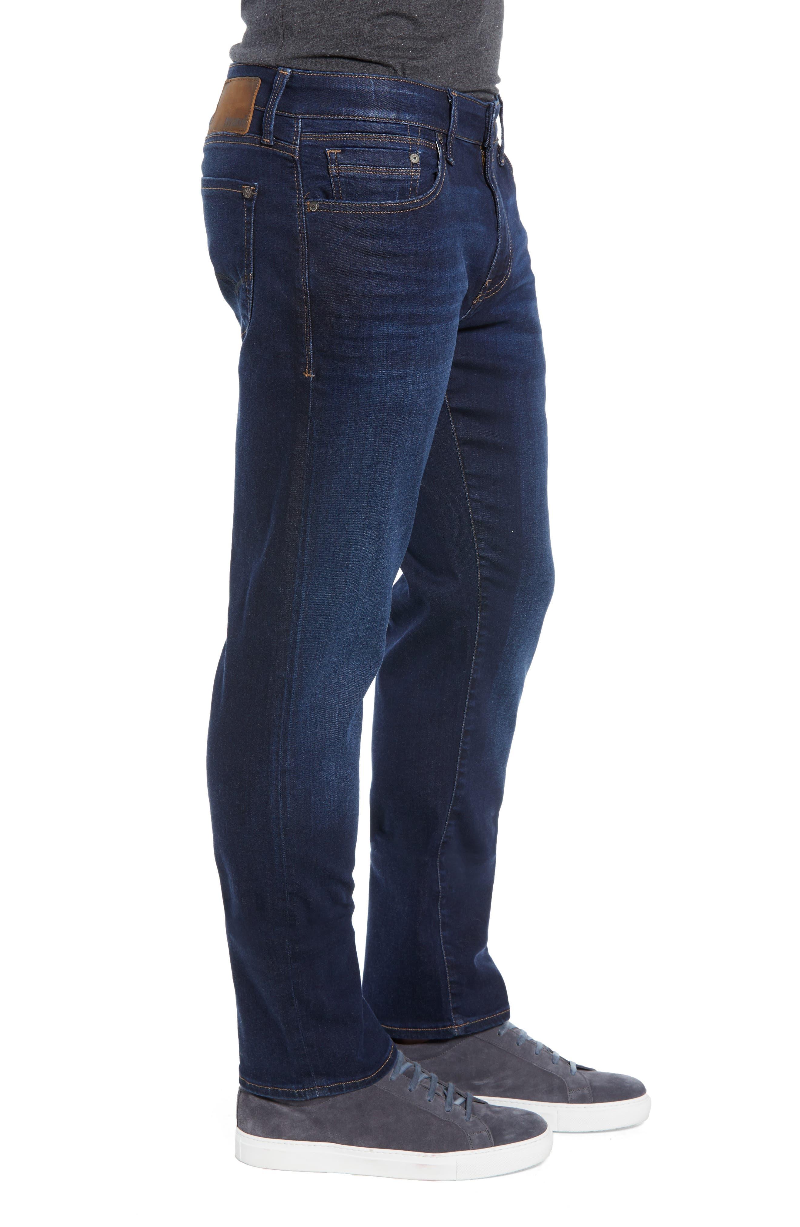Zach Straight Leg Jeans,                             Alternate thumbnail 3, color,                             DEEP SOFT MOVE