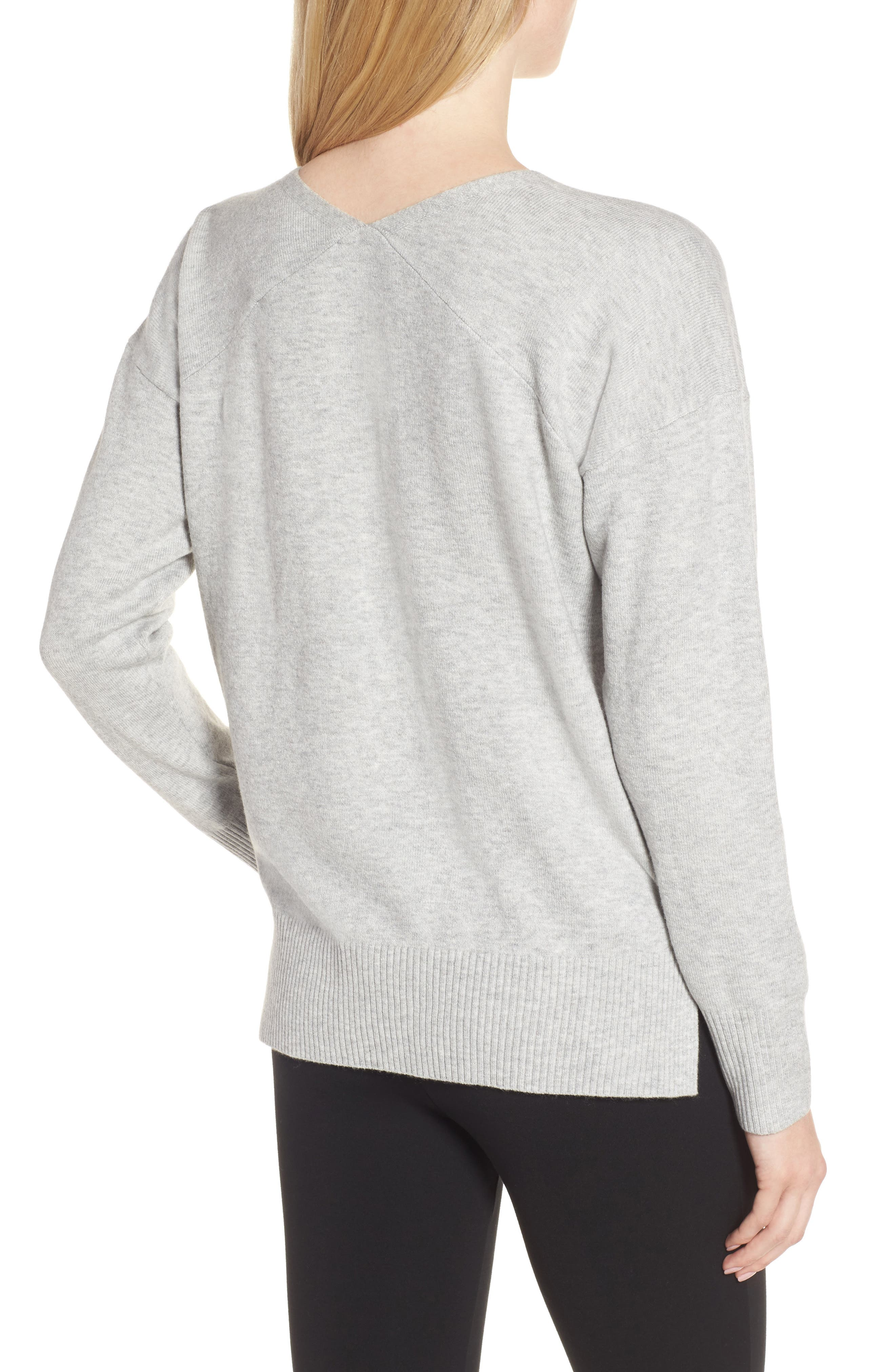 Della Vhari V-Neck Sweater,                             Alternate thumbnail 2, color,                             050