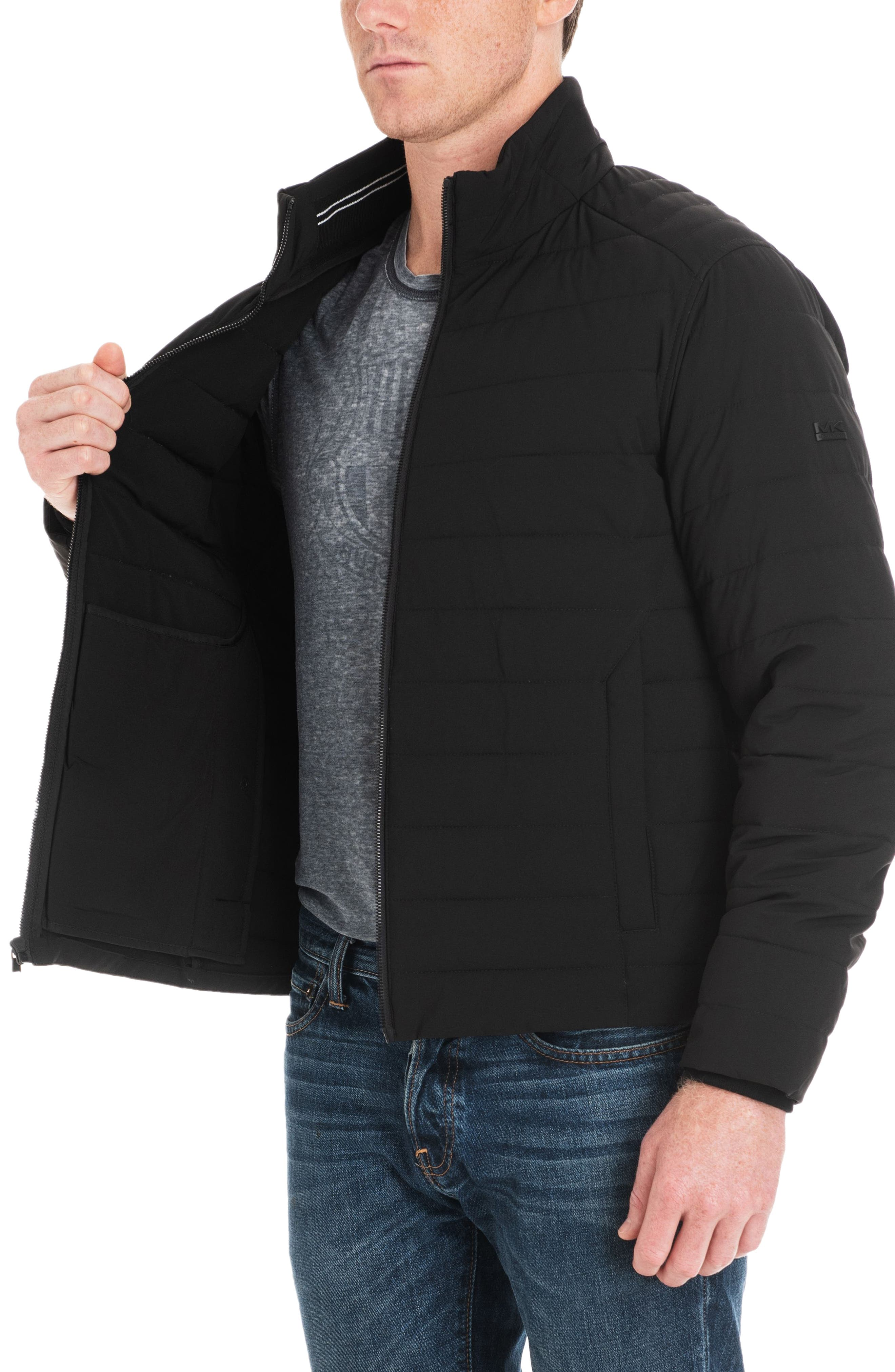 Fulton Quilted Jacket,                             Alternate thumbnail 4, color,                             BLACK/ MIDNIGHT