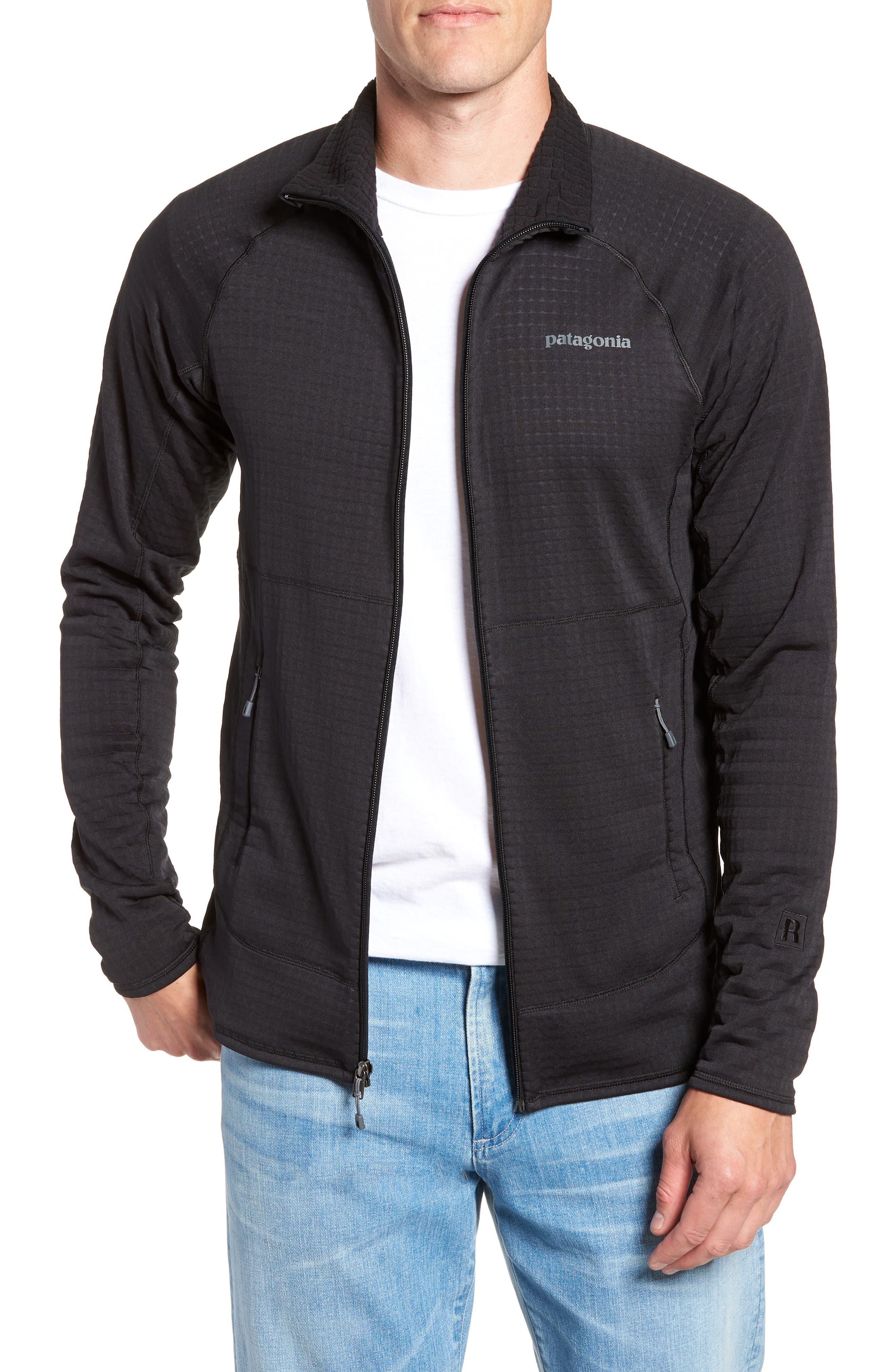R1<sup>®</sup> Full Zip Jacket,                             Main thumbnail 1, color,                             BLACK