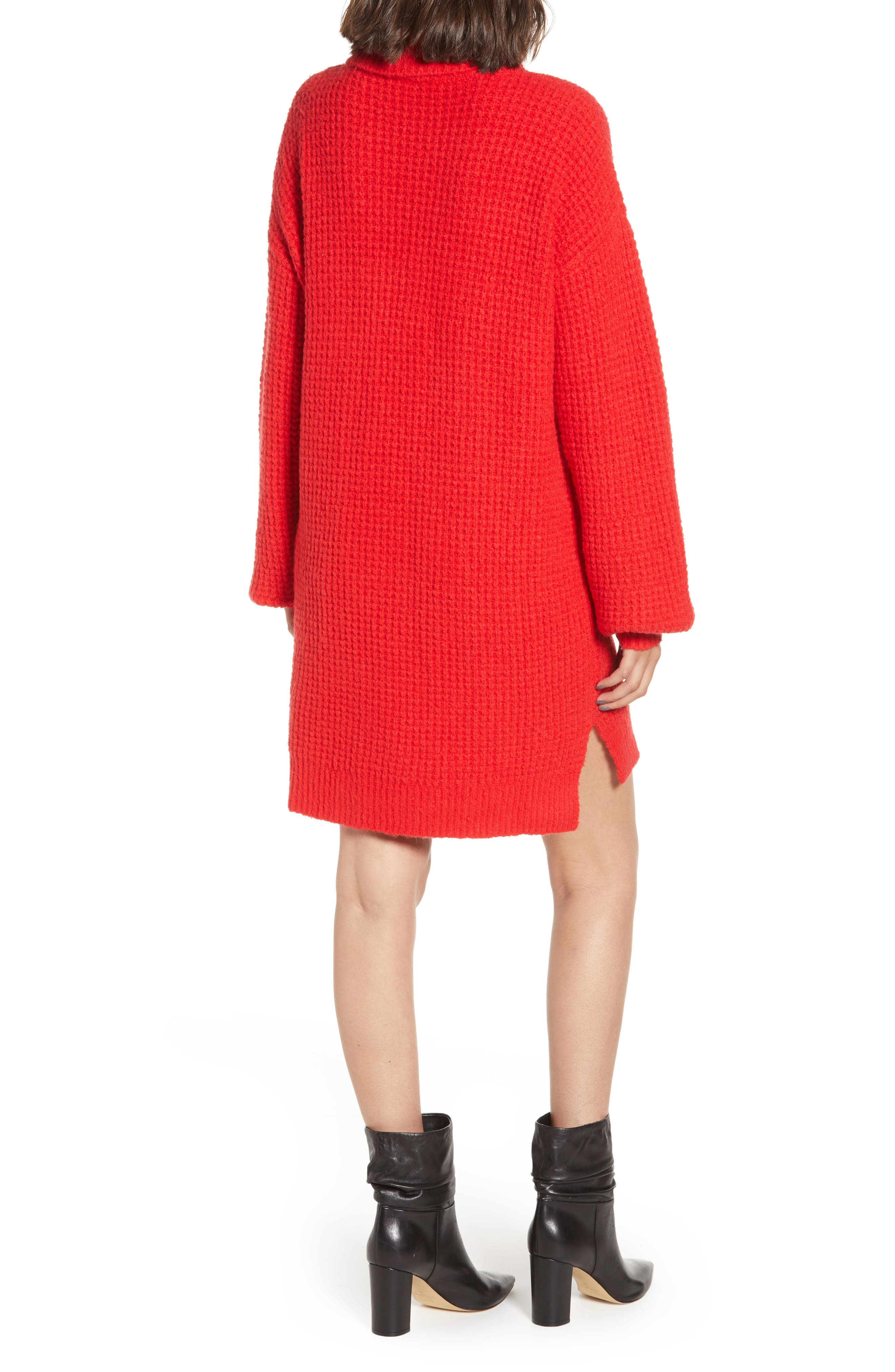 Holly Red Sweater Dress,                             Alternate thumbnail 2, color,                             600