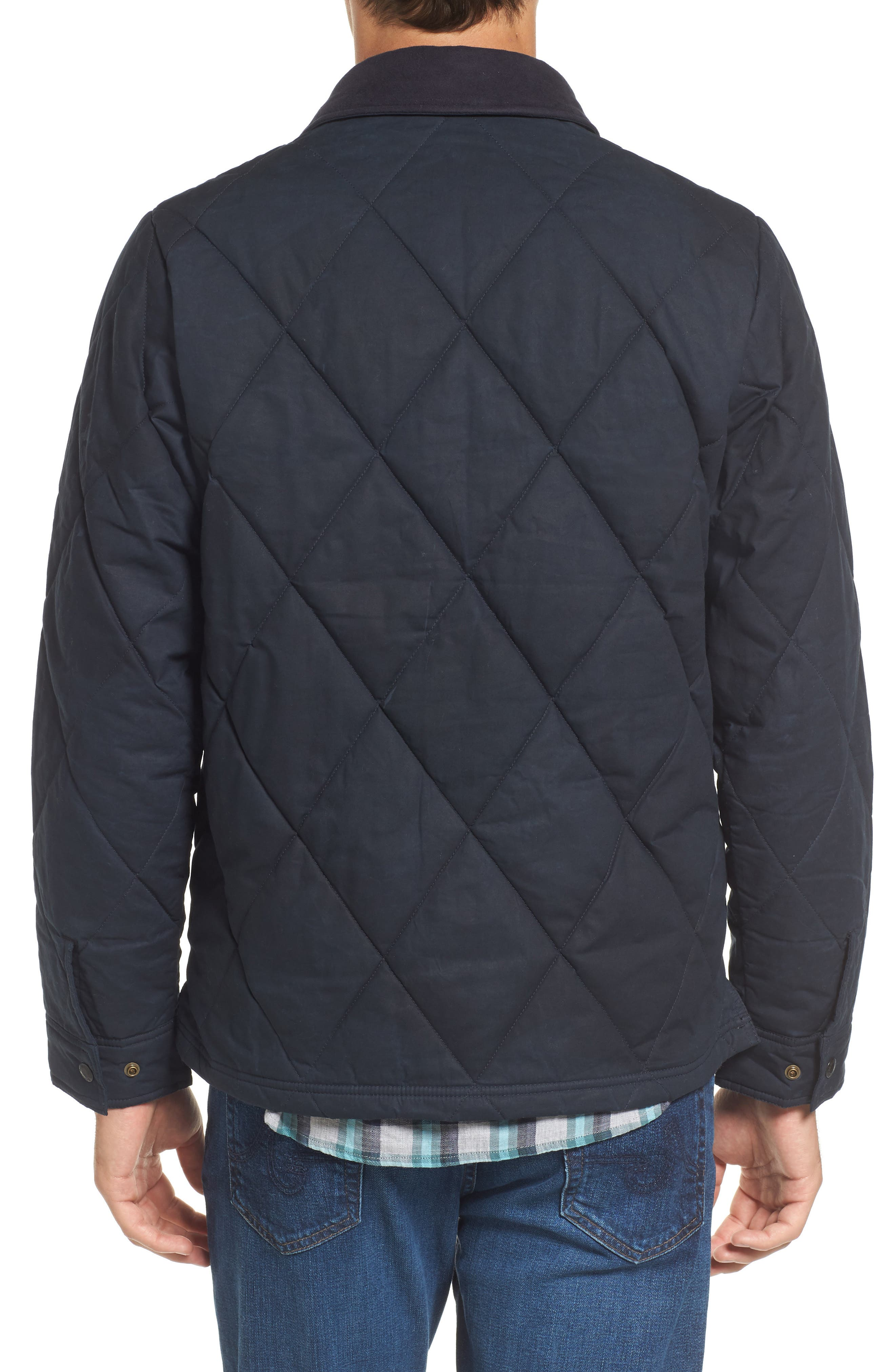 Hyder Quilted Water-Repellent Shirt Jacket,                             Alternate thumbnail 2, color,                             FADED NAVY