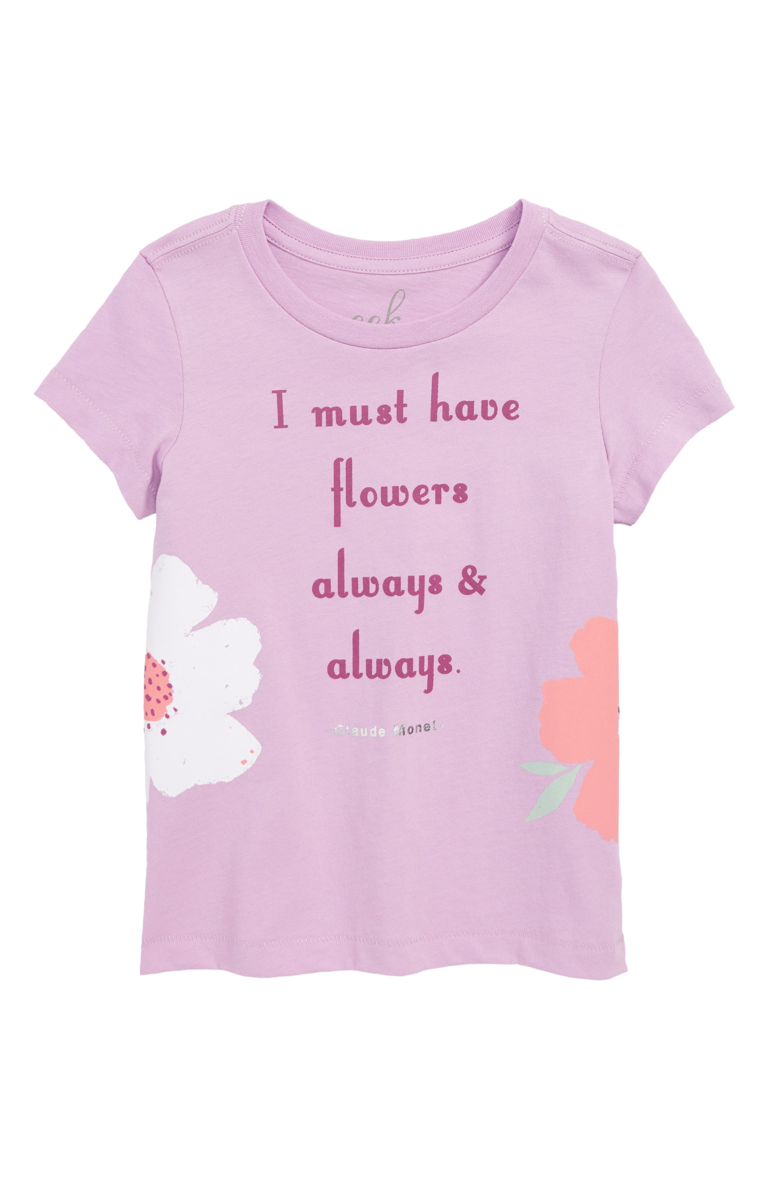 Always Always Graphic Tee,                         Main,                         color, LAVENDER