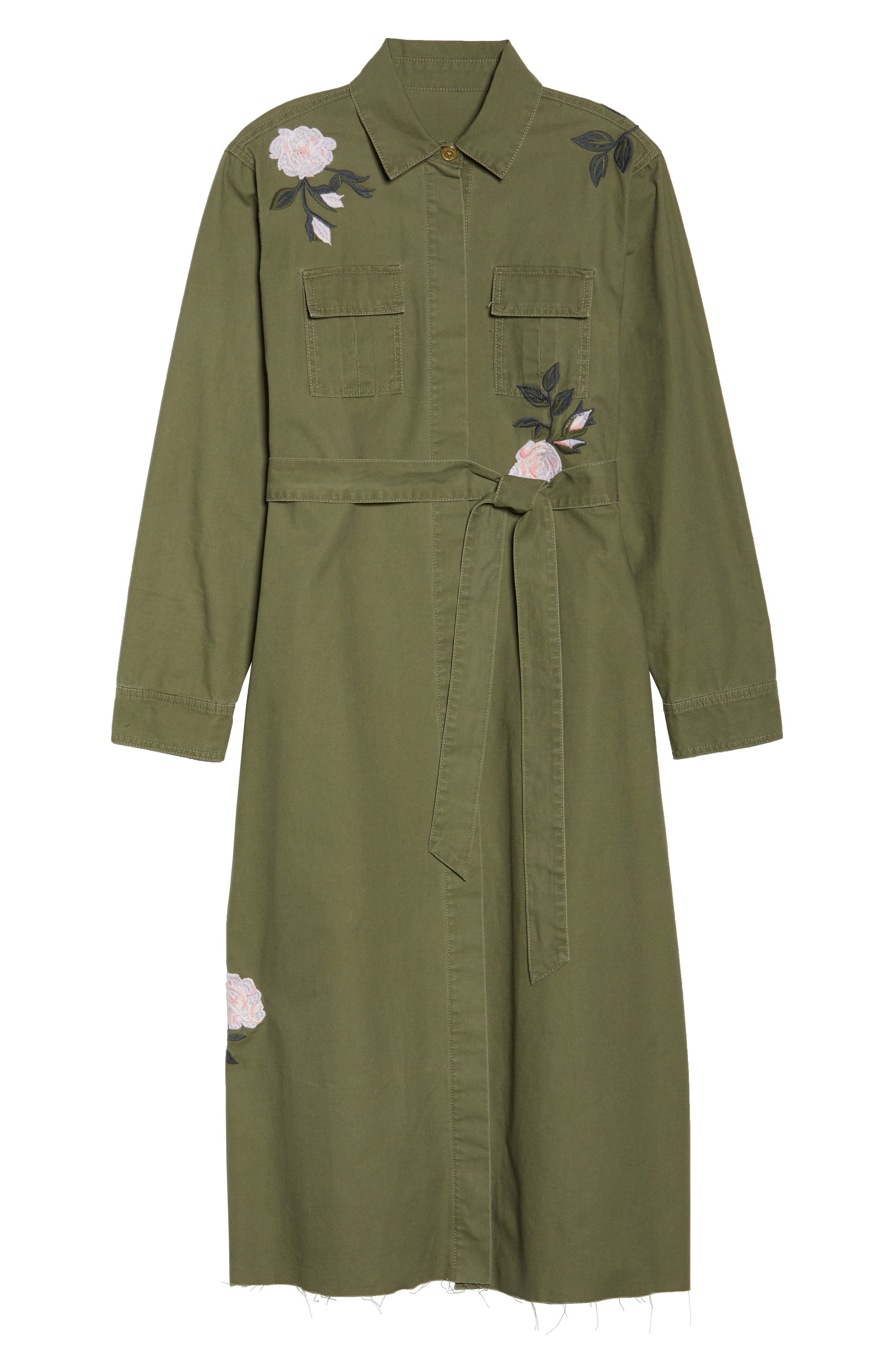 Embroidered Army Duster,                             Alternate thumbnail 5, color,                             ARMY