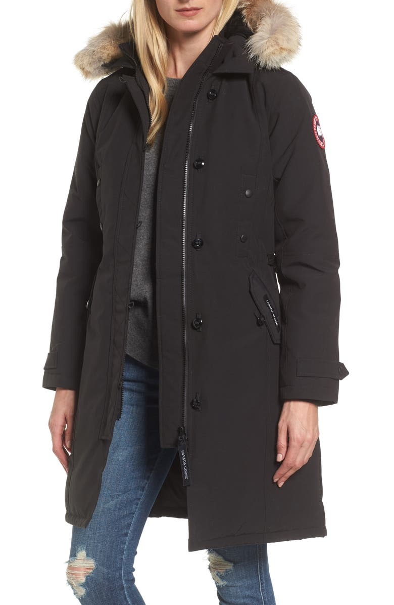 CANADA GOOSE Kensington Slim Fit Down Parka with Genuine Coyote Fur Trim cf45831c1