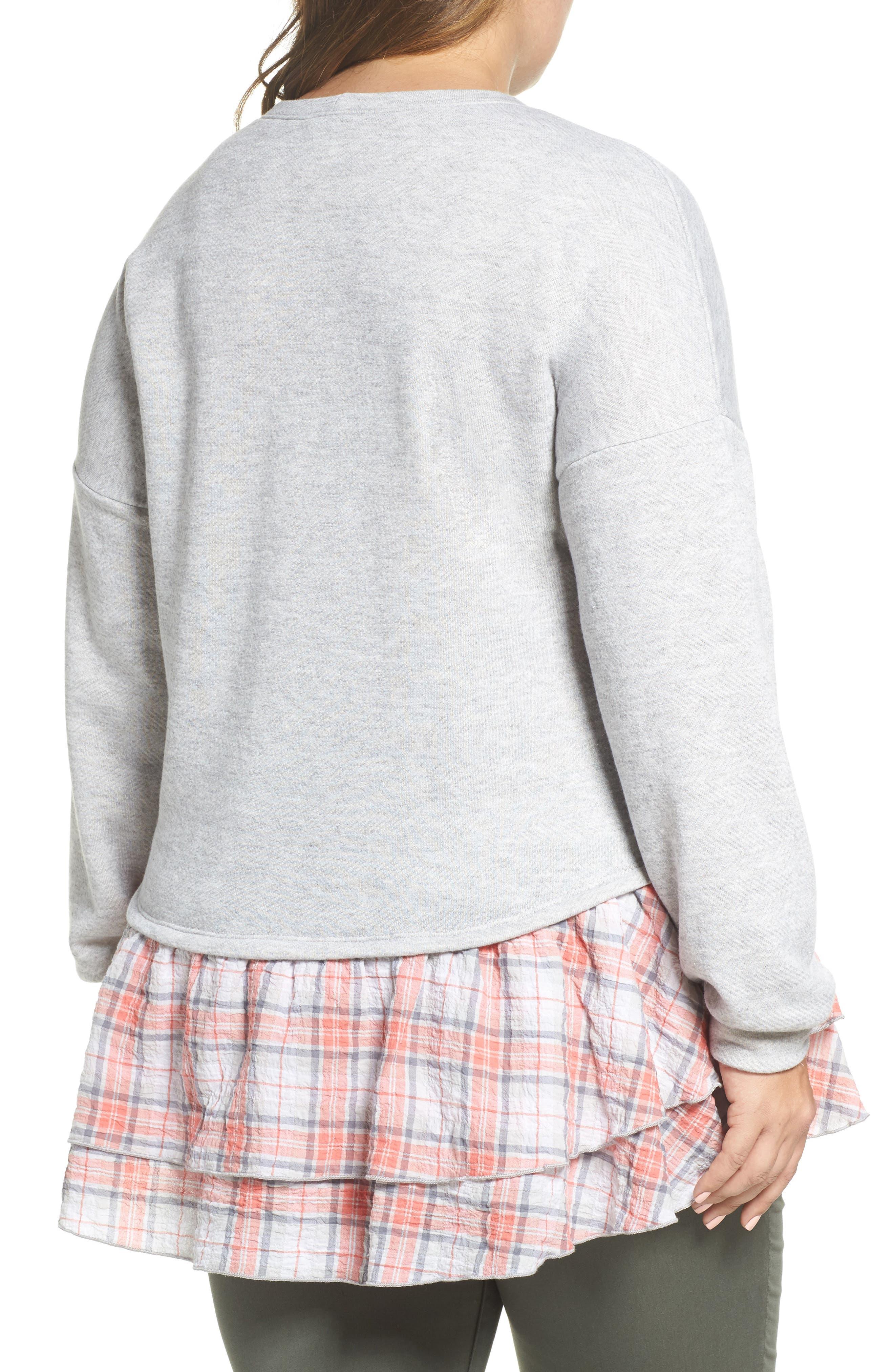 Layered Look Sweatshirt,                             Alternate thumbnail 2, color,                             030