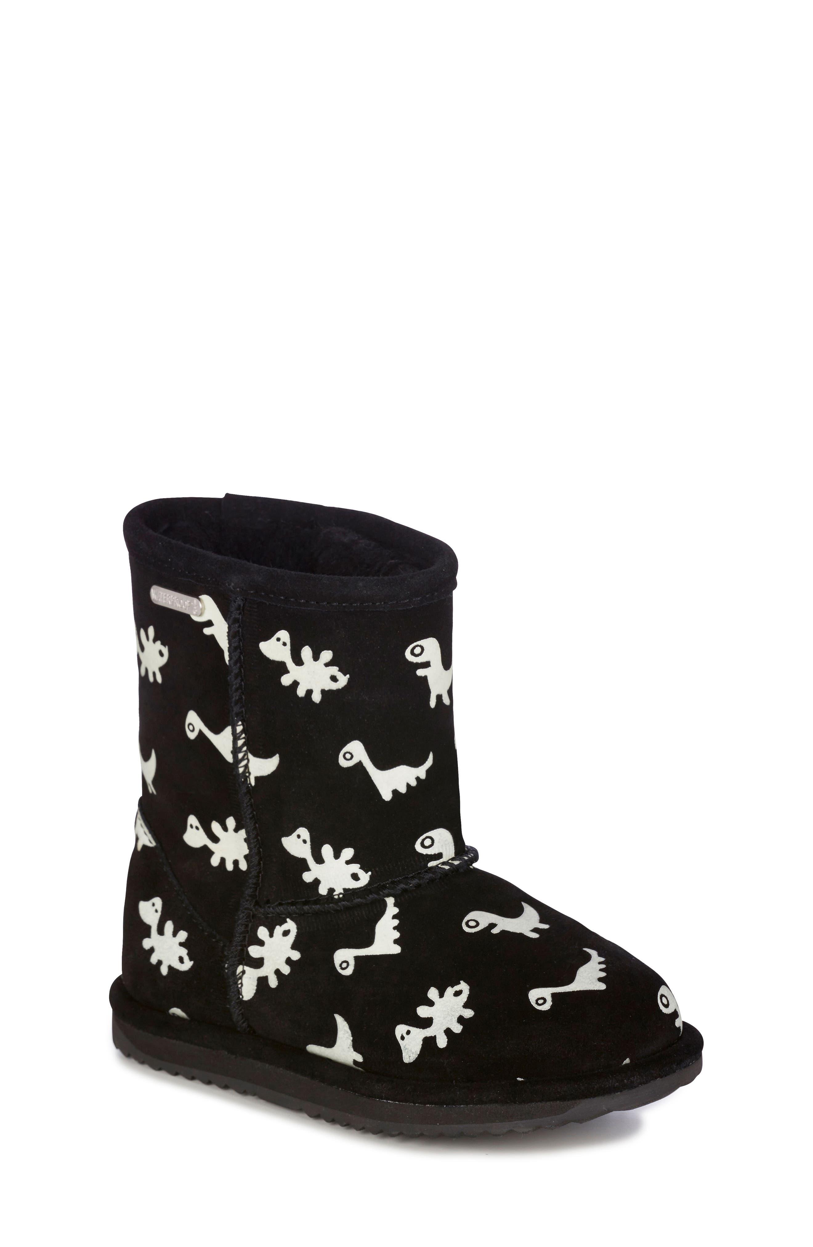 Animal Print Boots,                         Main,                         color, BLACK