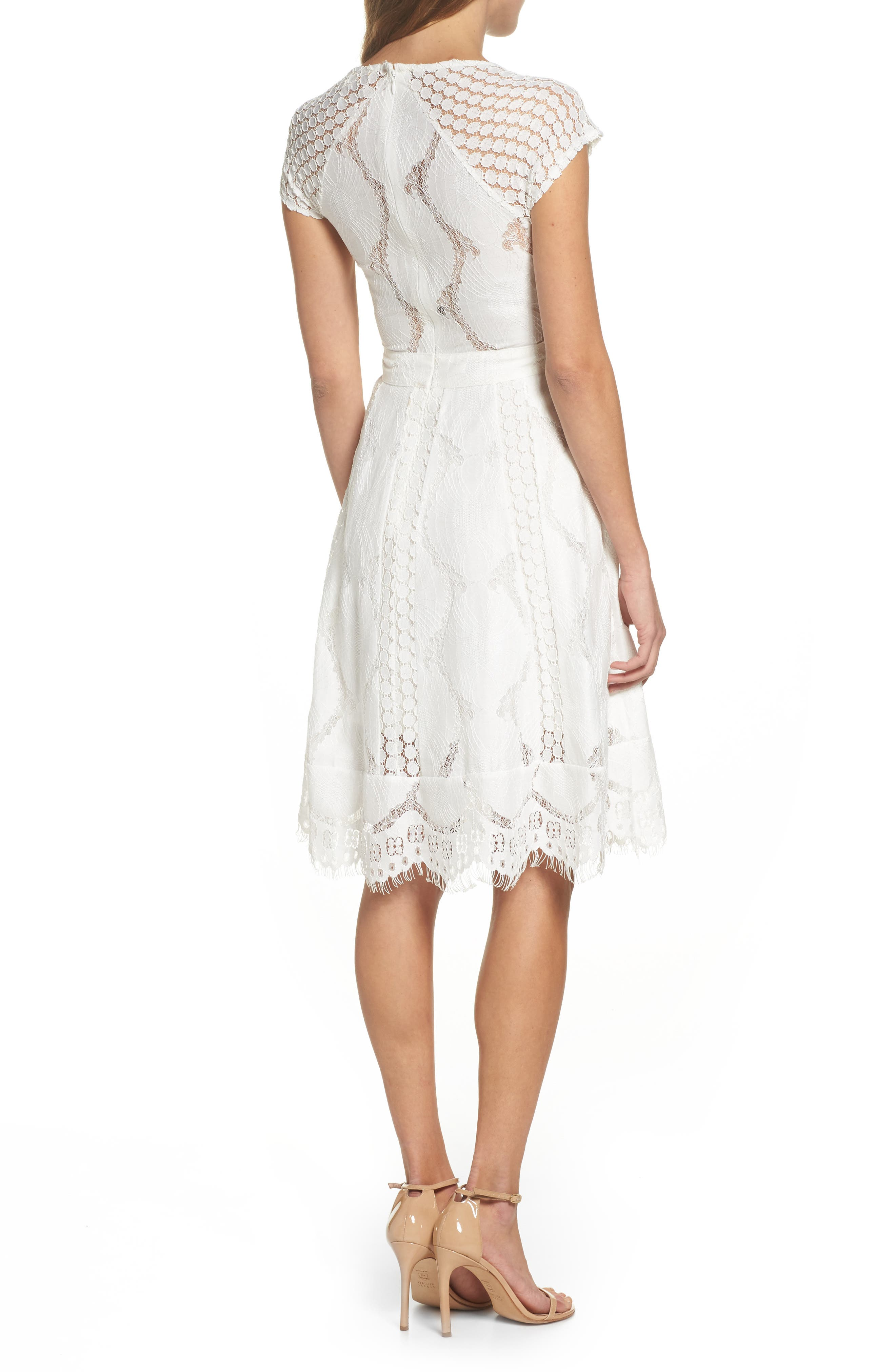 Theodora Lace Dress,                             Alternate thumbnail 2, color,                             100