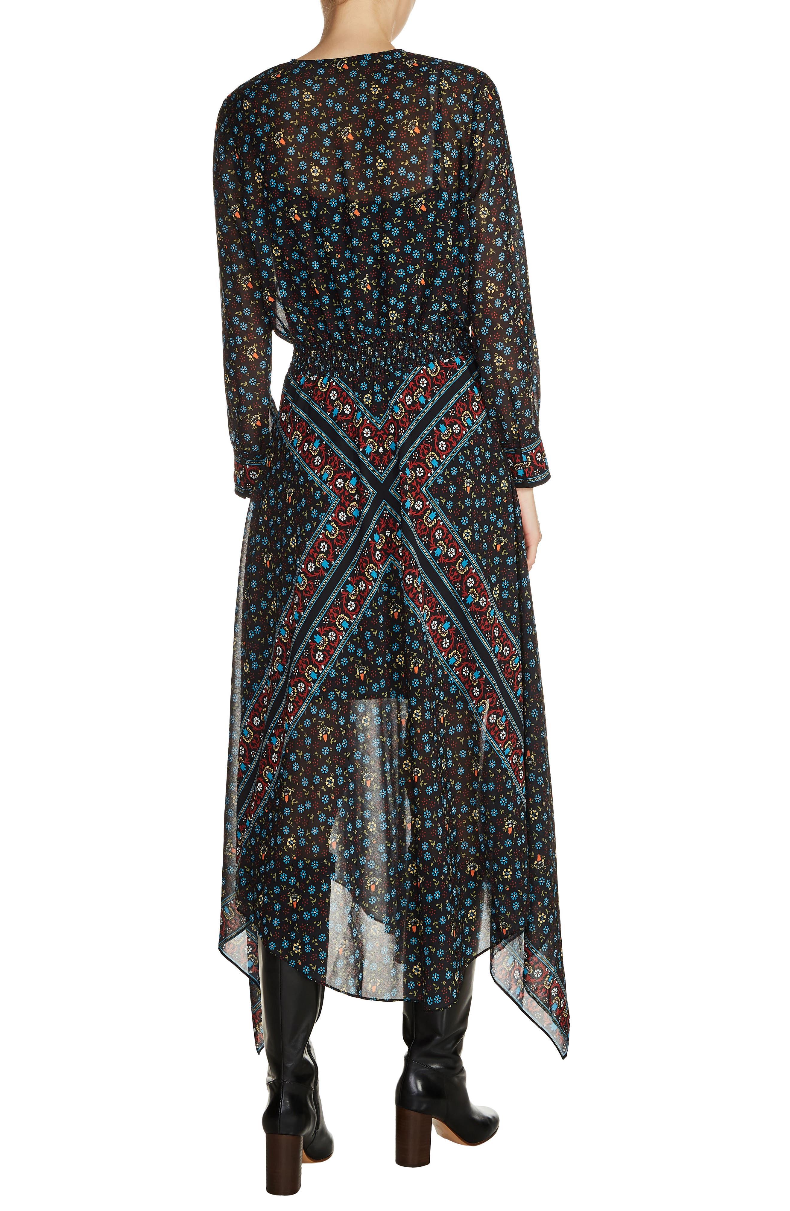 Print Handkerchief Hem Dress,                             Alternate thumbnail 2, color,                             020