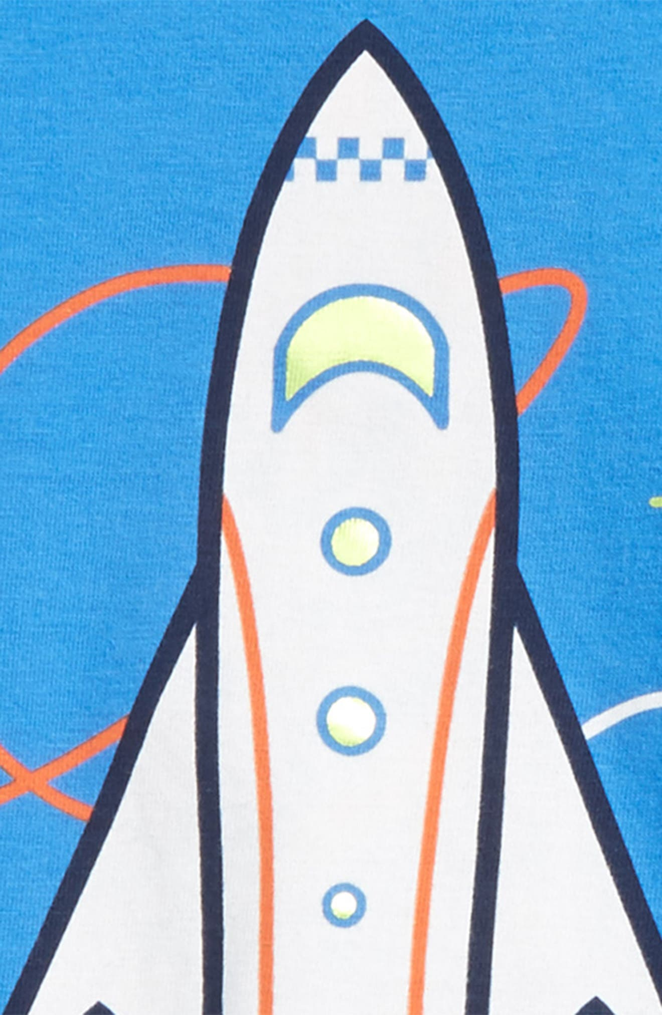 Spaceship Graphic T-Shirt & Cargo Shorts Set,                             Alternate thumbnail 2, color,                             425
