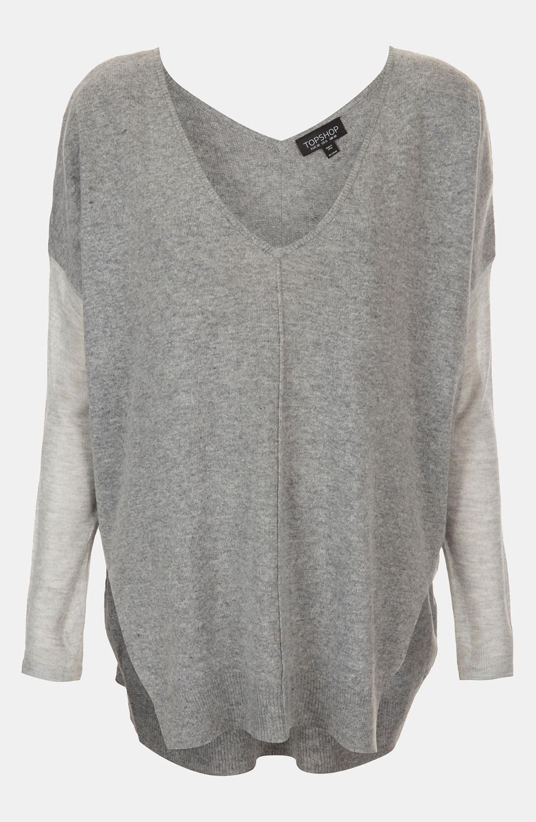 Mixed Media Drop Shoulder Sweater,                             Main thumbnail 1, color,                             050