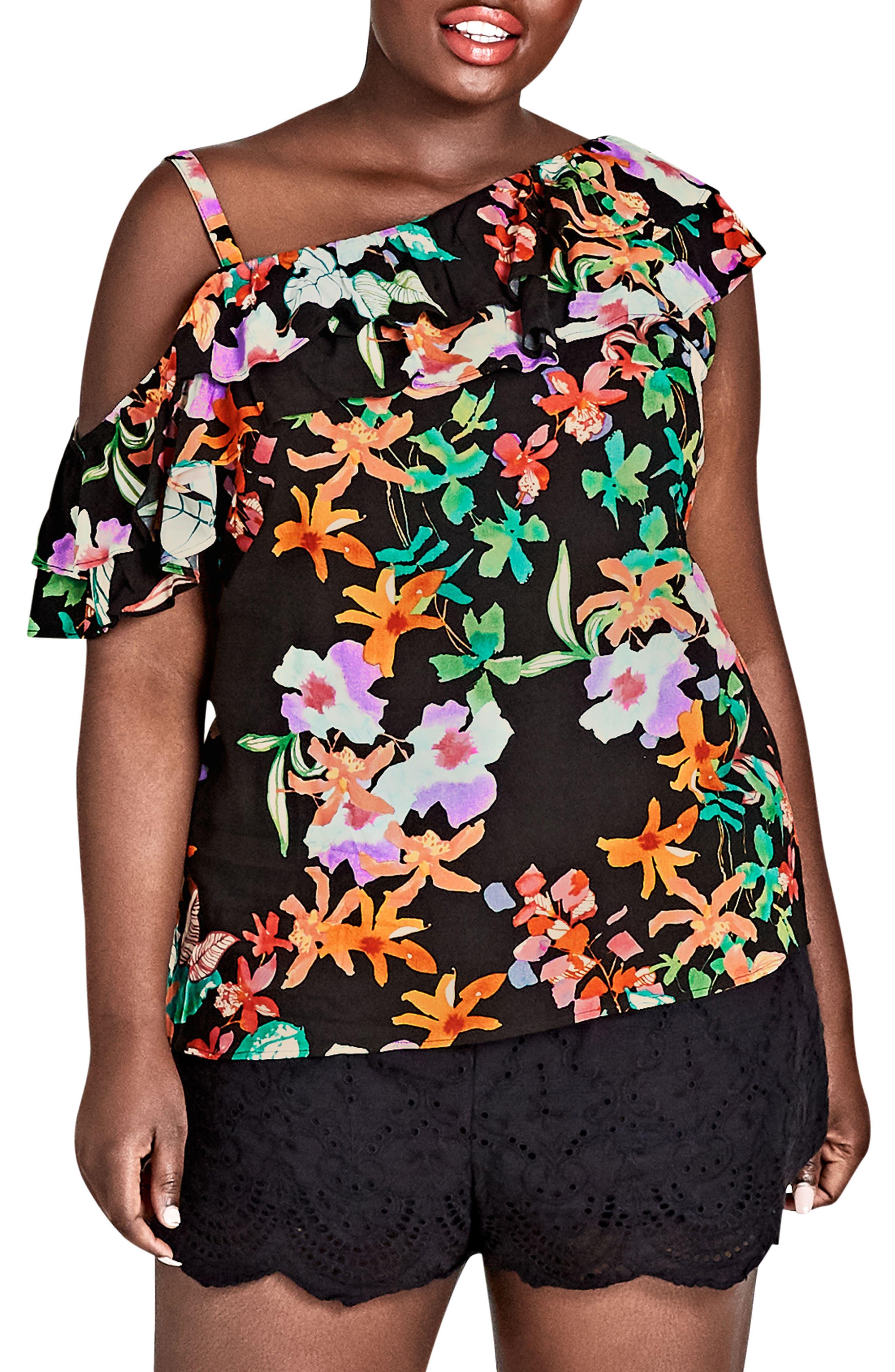 Molokai Floral Top,                             Alternate thumbnail 3, color,                             MOLOKAI FLORAL