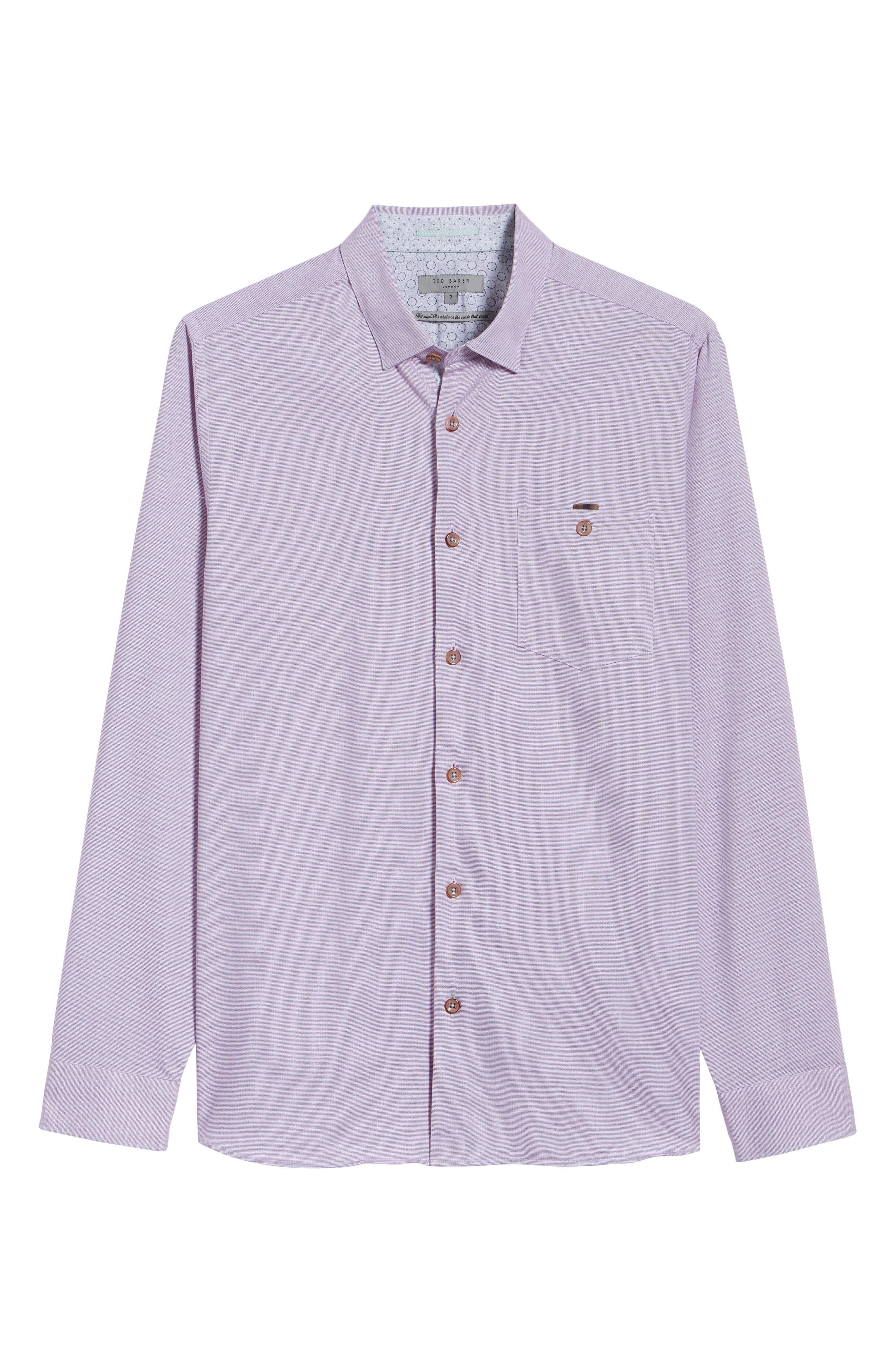 Slim Fit Textured Sport Shirt,                             Alternate thumbnail 30, color,