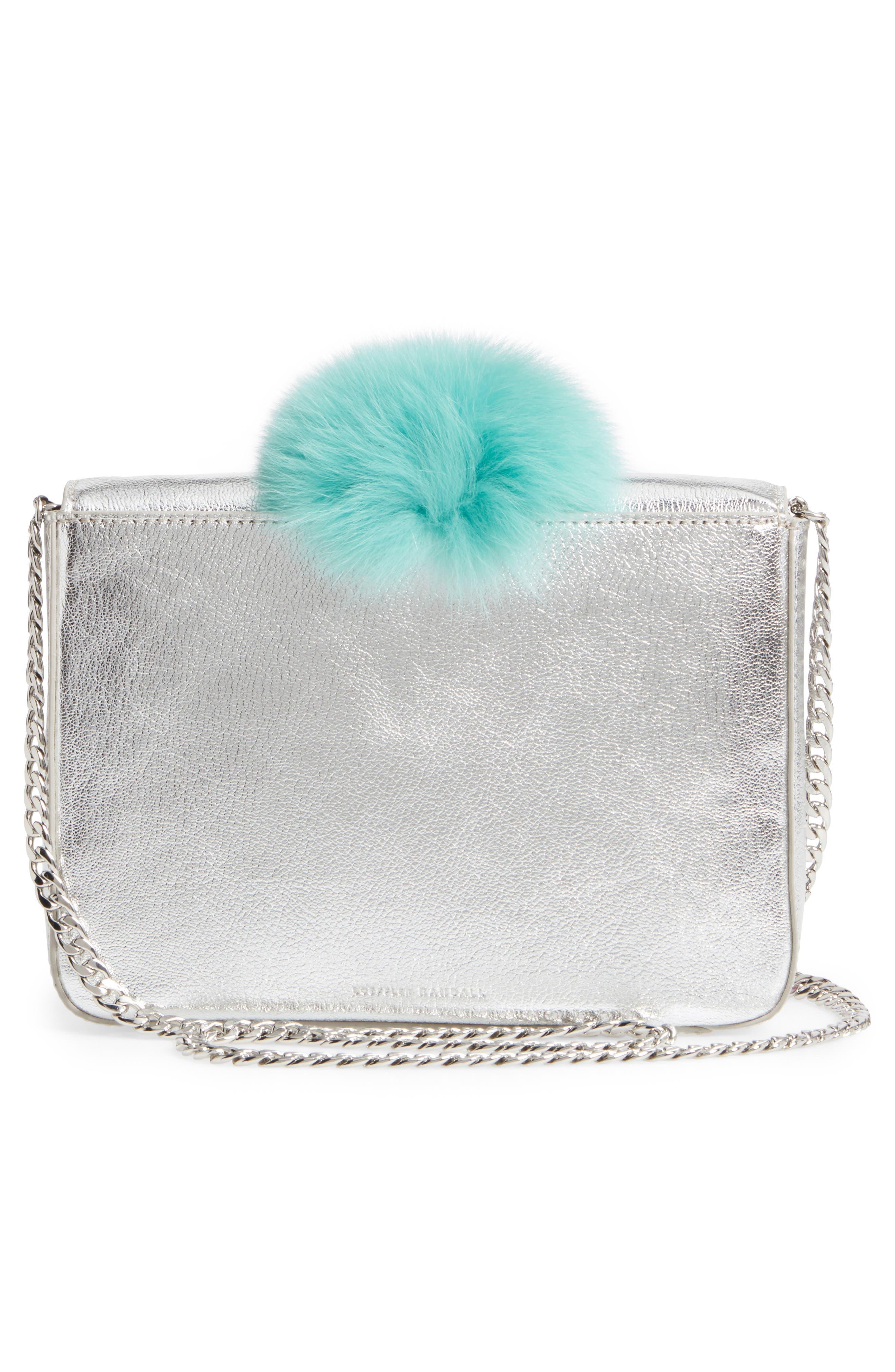 Lock Genuine Fox Fur Shoulder Bag,                             Alternate thumbnail 3, color,                             049