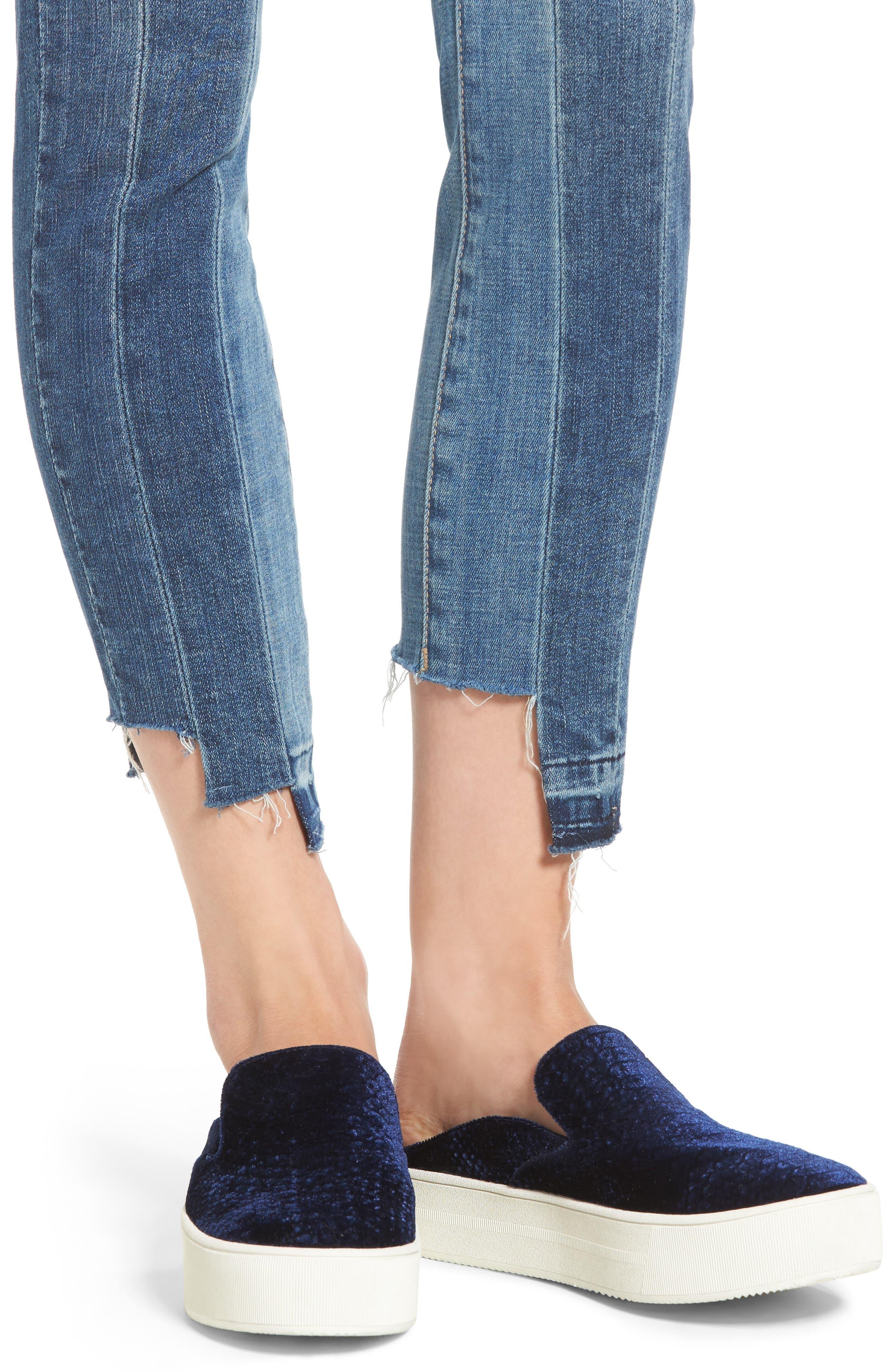 Step Hem Skinny Jeans,                             Alternate thumbnail 4, color,                             400
