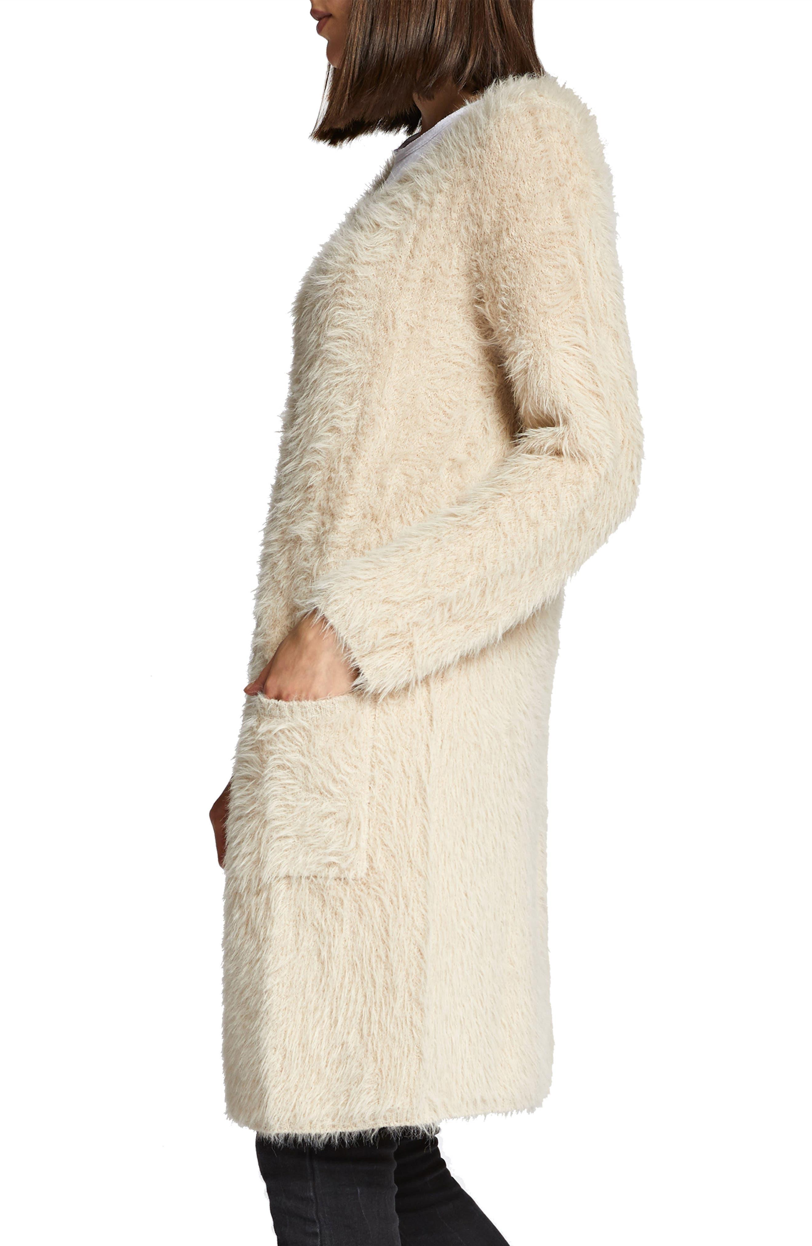 Faux Fur City Coat,                             Alternate thumbnail 4, color,                             250