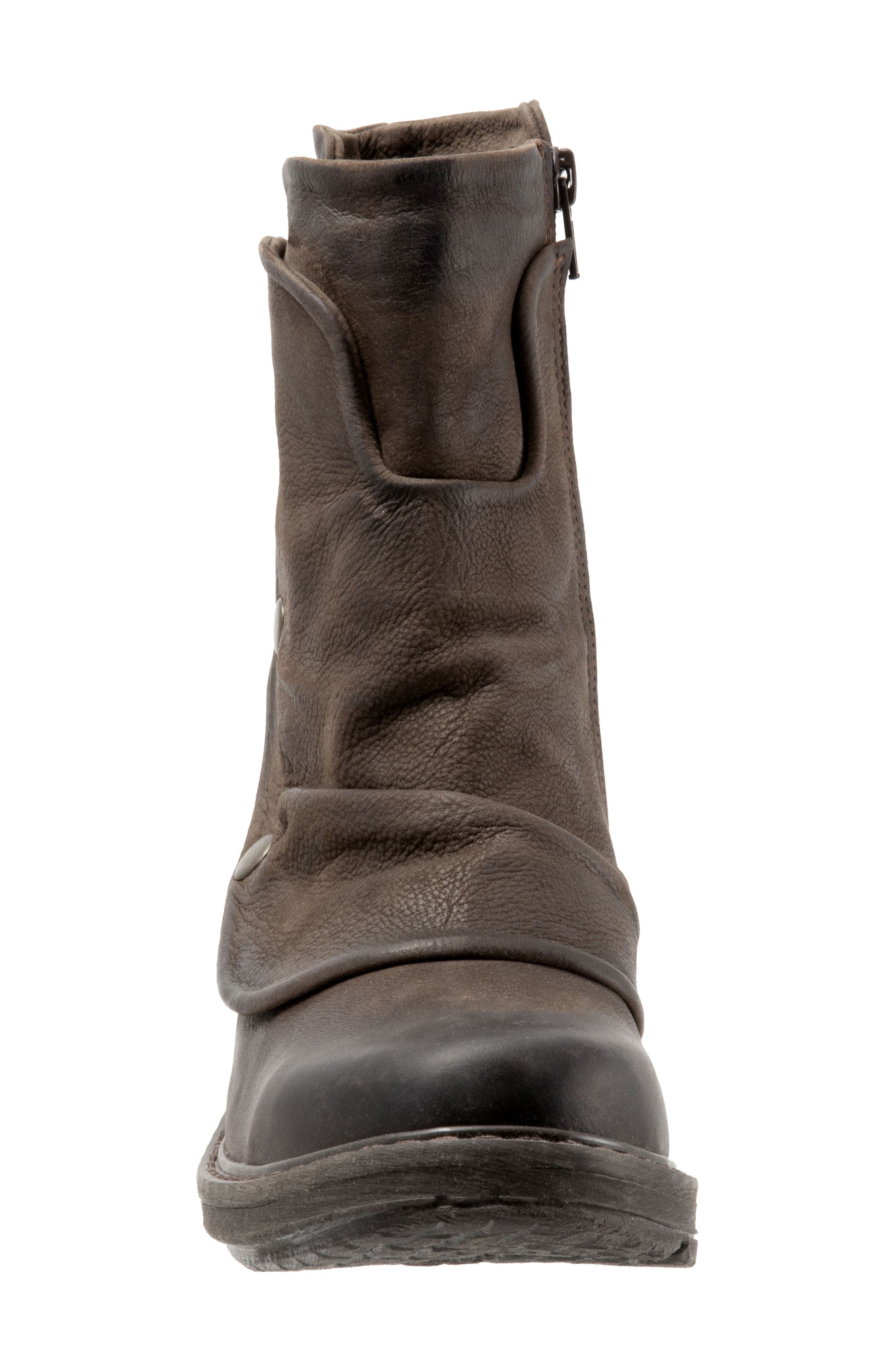 Greta Boot,                             Alternate thumbnail 4, color,                             BROWN NUBUCK