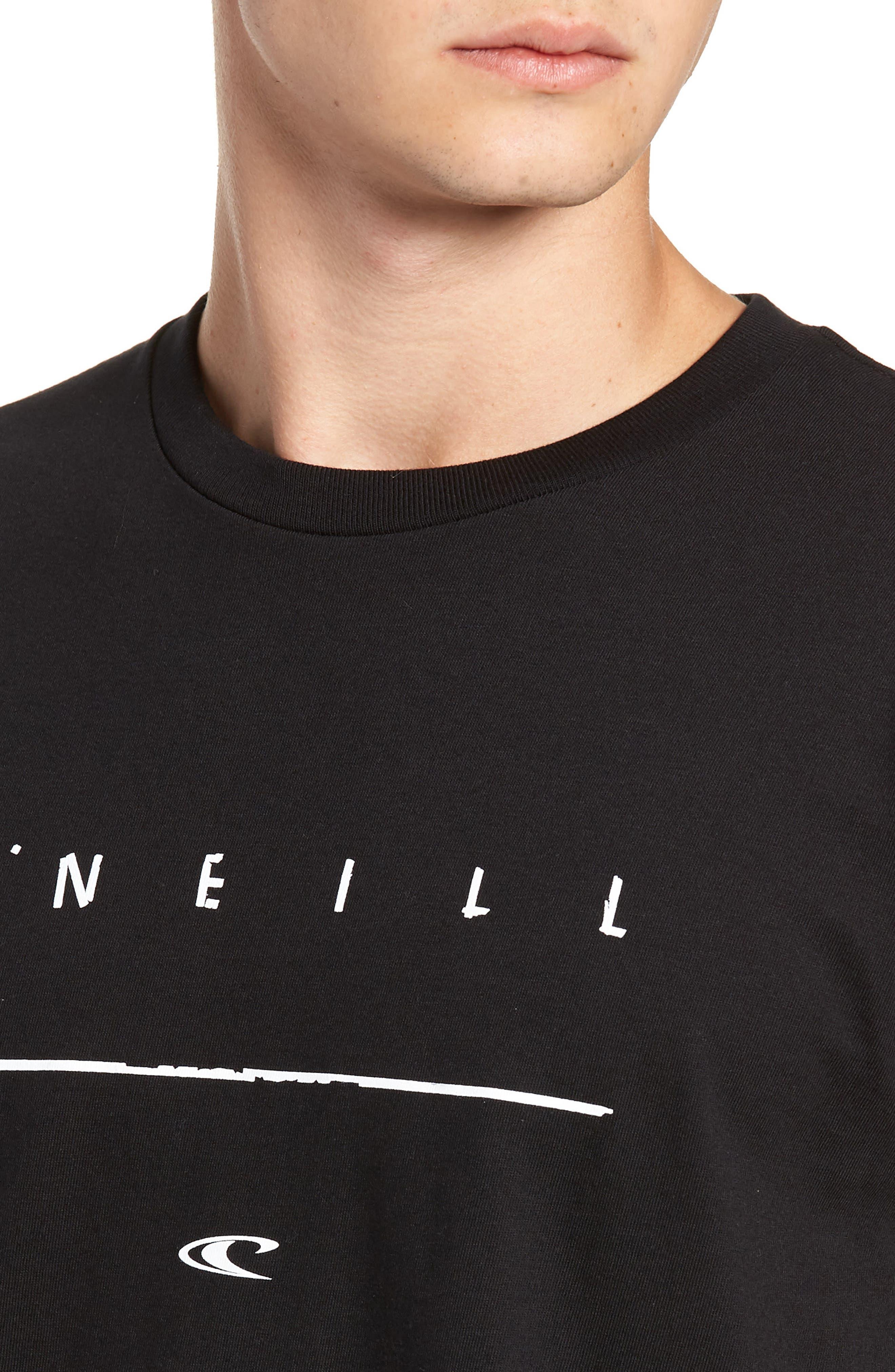 Taper Logo Graphic T-Shirt,                             Alternate thumbnail 4, color,                             BLACK