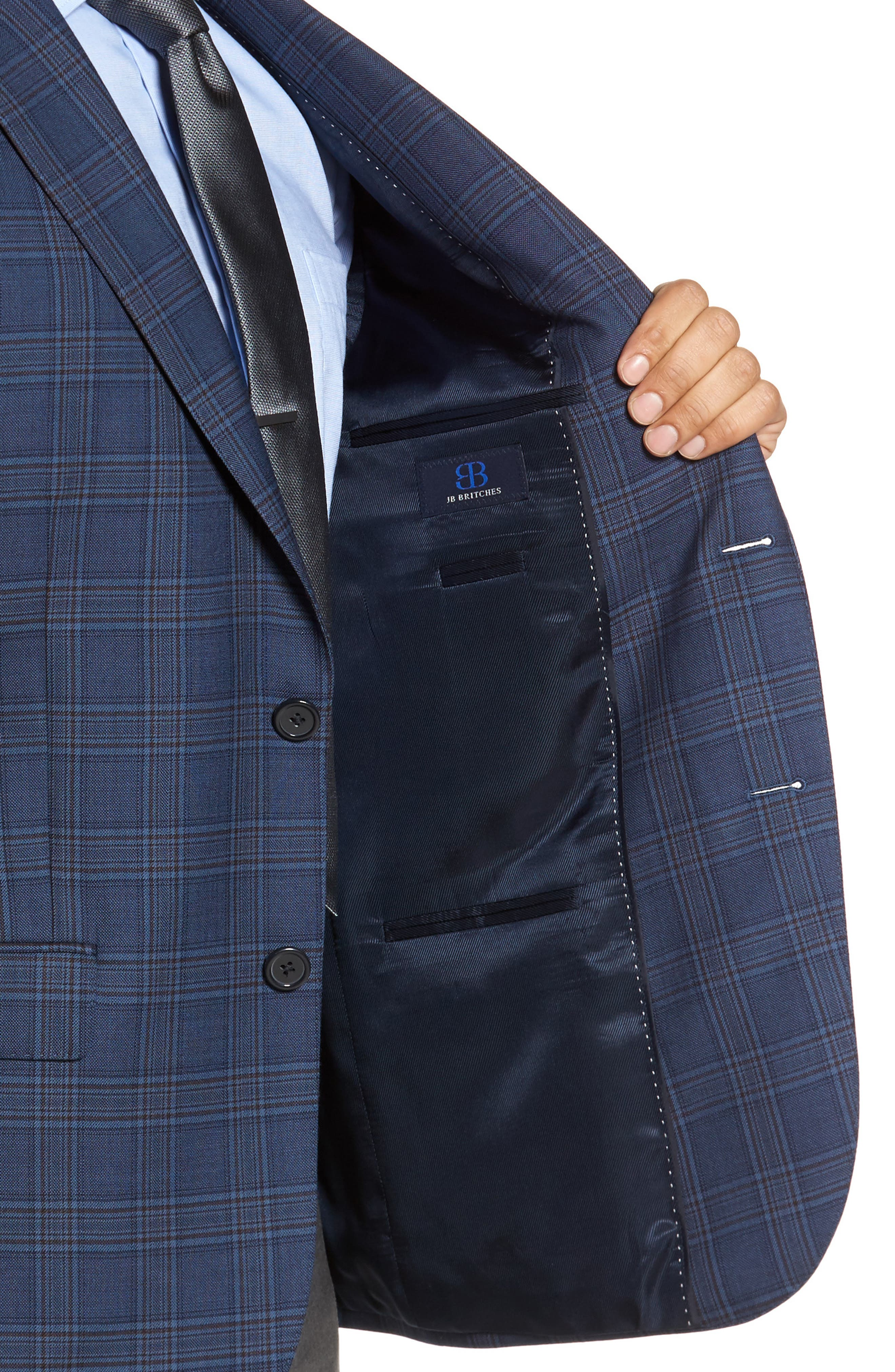 Classic Fit Plaid Wool Sport Coat,                             Alternate thumbnail 4, color,                             422