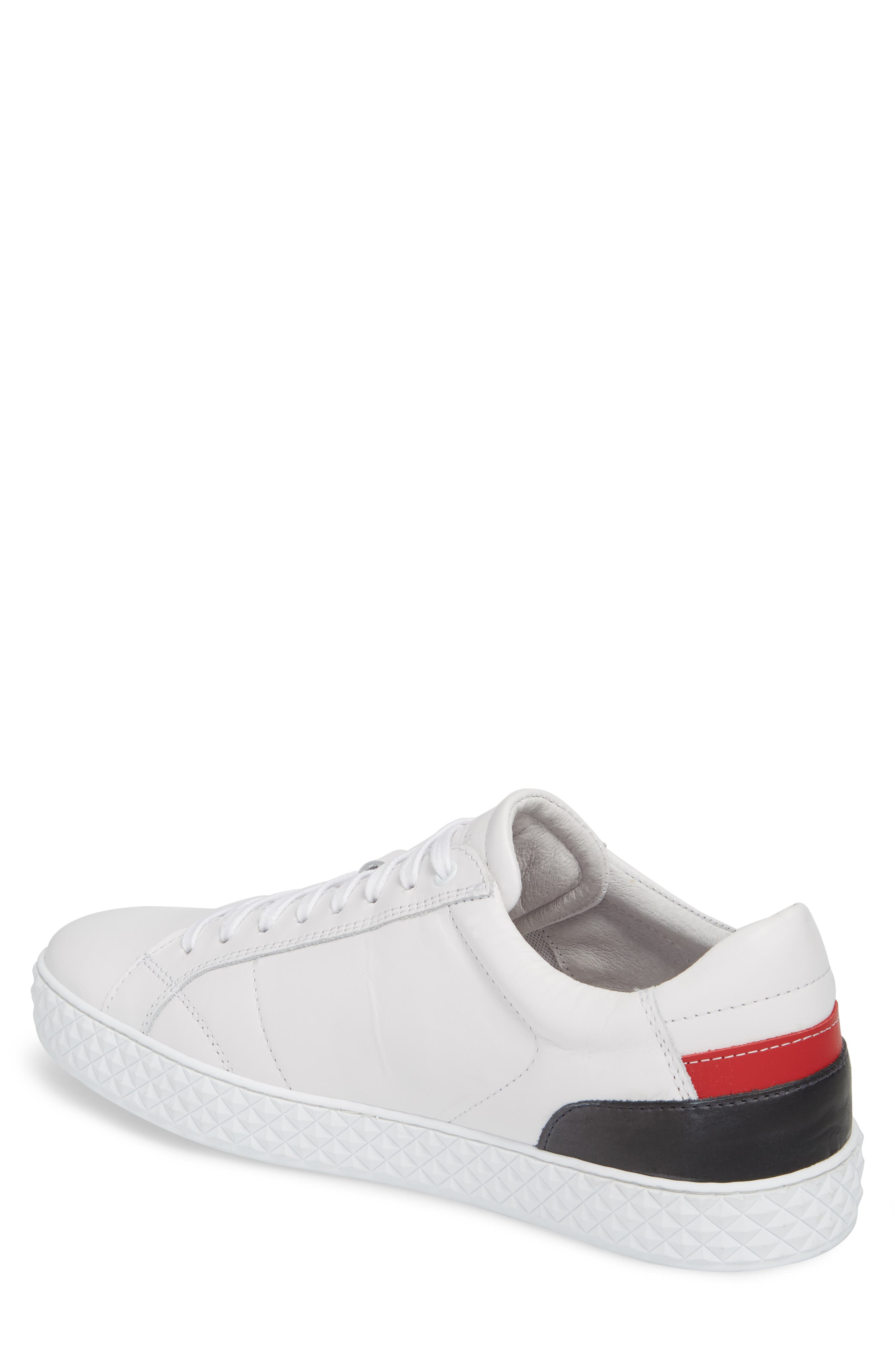 Bratislava Low Top Sneaker,                             Alternate thumbnail 2, color,                             OPTIC WHITE/ RED/ NAVY LEATHER