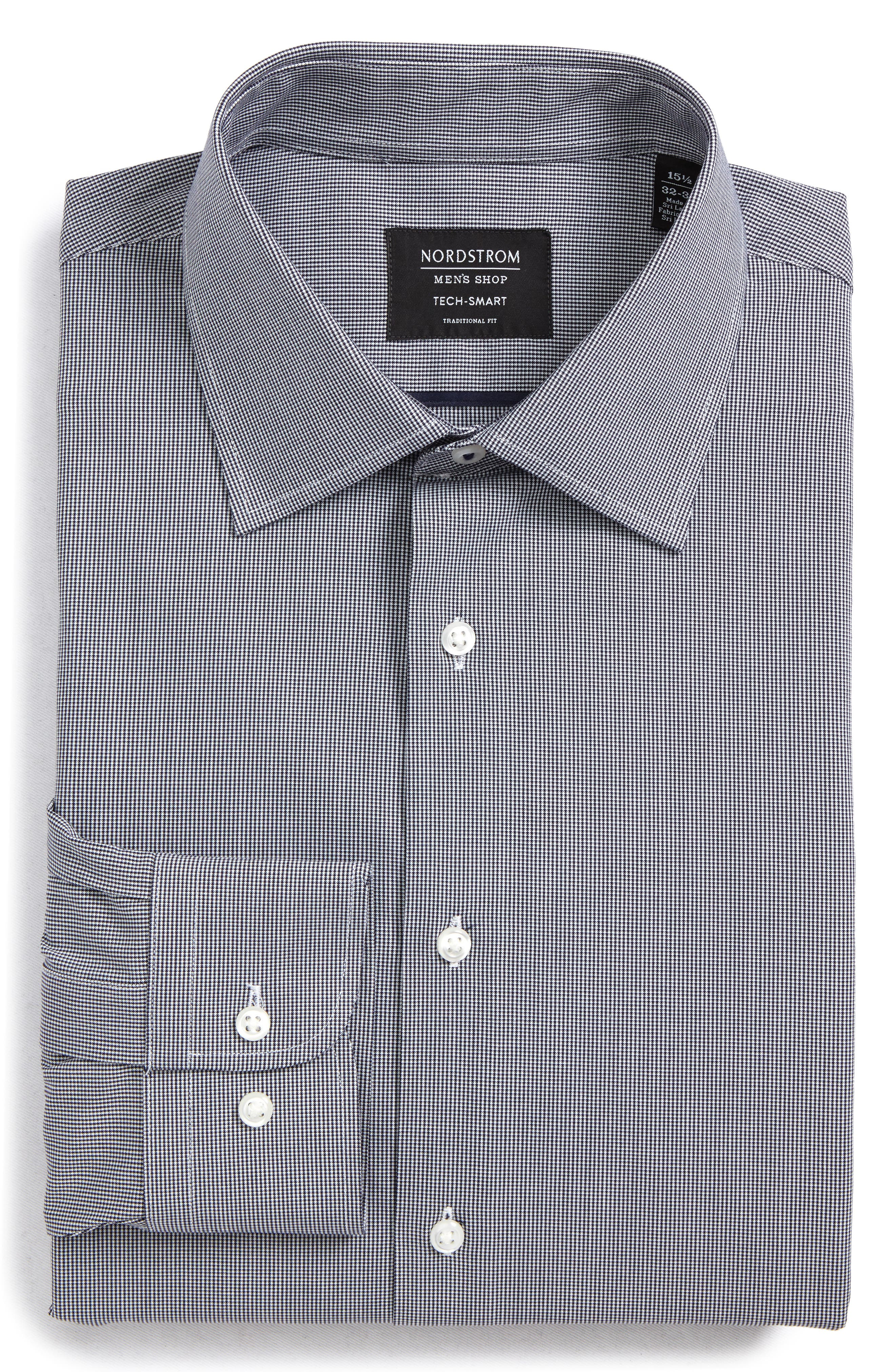 Tech-Smart Traditional Fit Stretch Microdot Dress Shirt,                             Alternate thumbnail 5, color,                             410