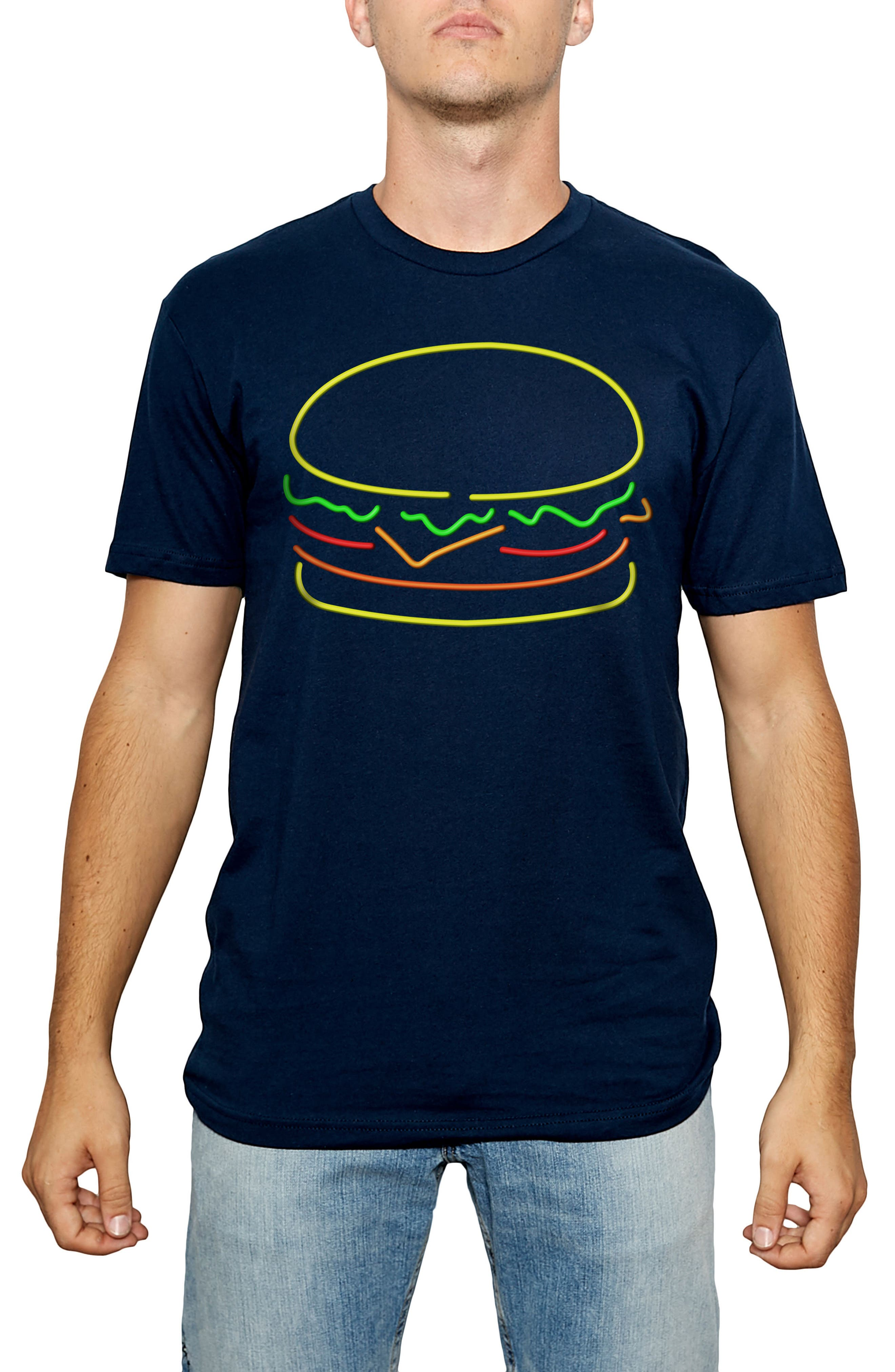 Neon Cheeseburger Graphic T-Shirt,                             Main thumbnail 1, color,
