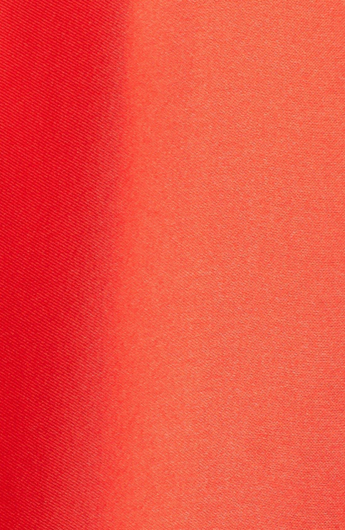 MILLY,                             Silk Satin Bow Back Ball Skirt,                             Alternate thumbnail 5, color,                             650
